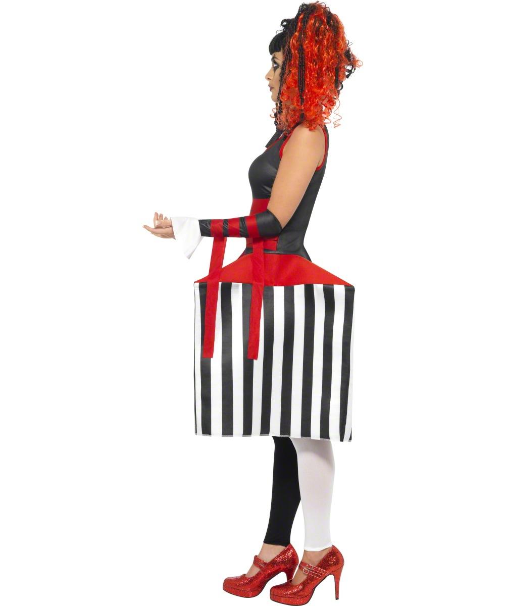 clown aus der box kost m f r damen. Black Bedroom Furniture Sets. Home Design Ideas