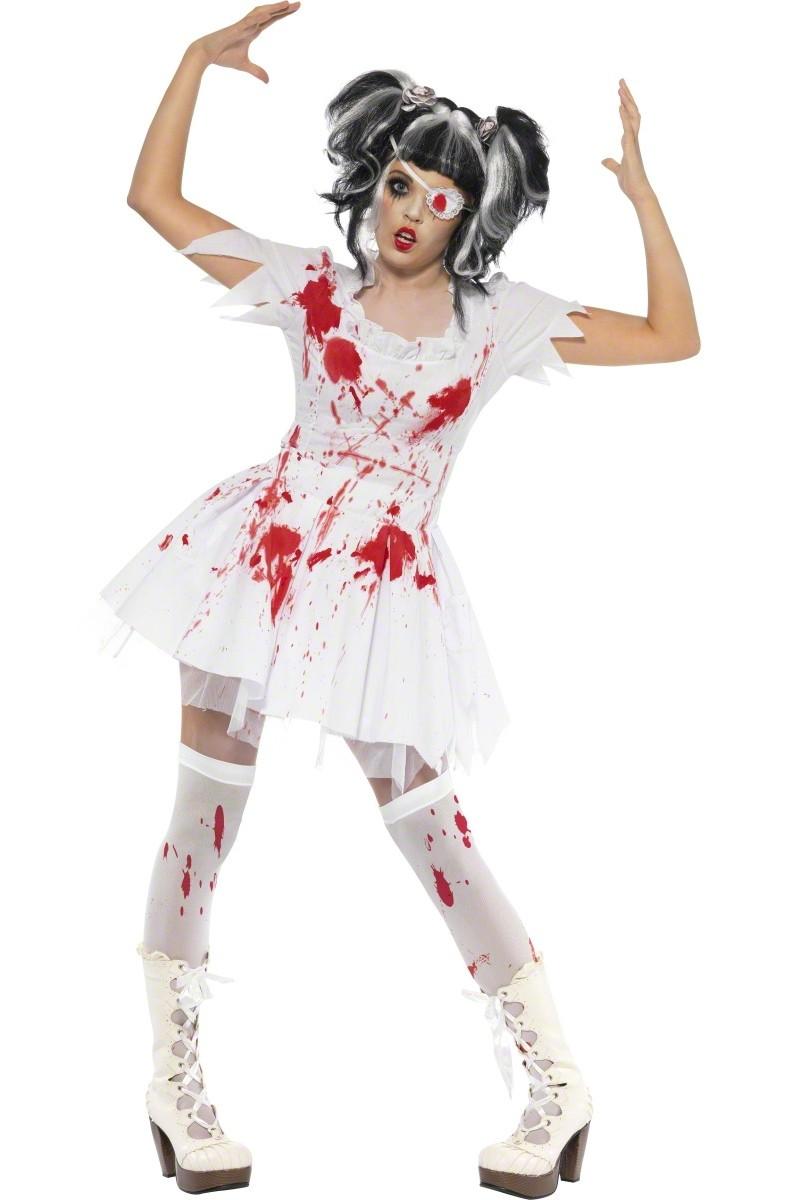 horrorpuppe zombie halloween kostuem fuer damen kostueme fuer