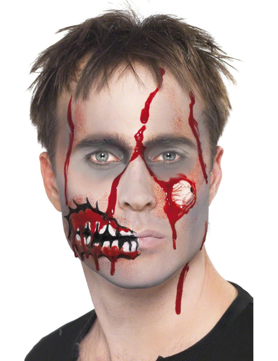 zombie schminke erwachsene halloween schminke und. Black Bedroom Furniture Sets. Home Design Ideas