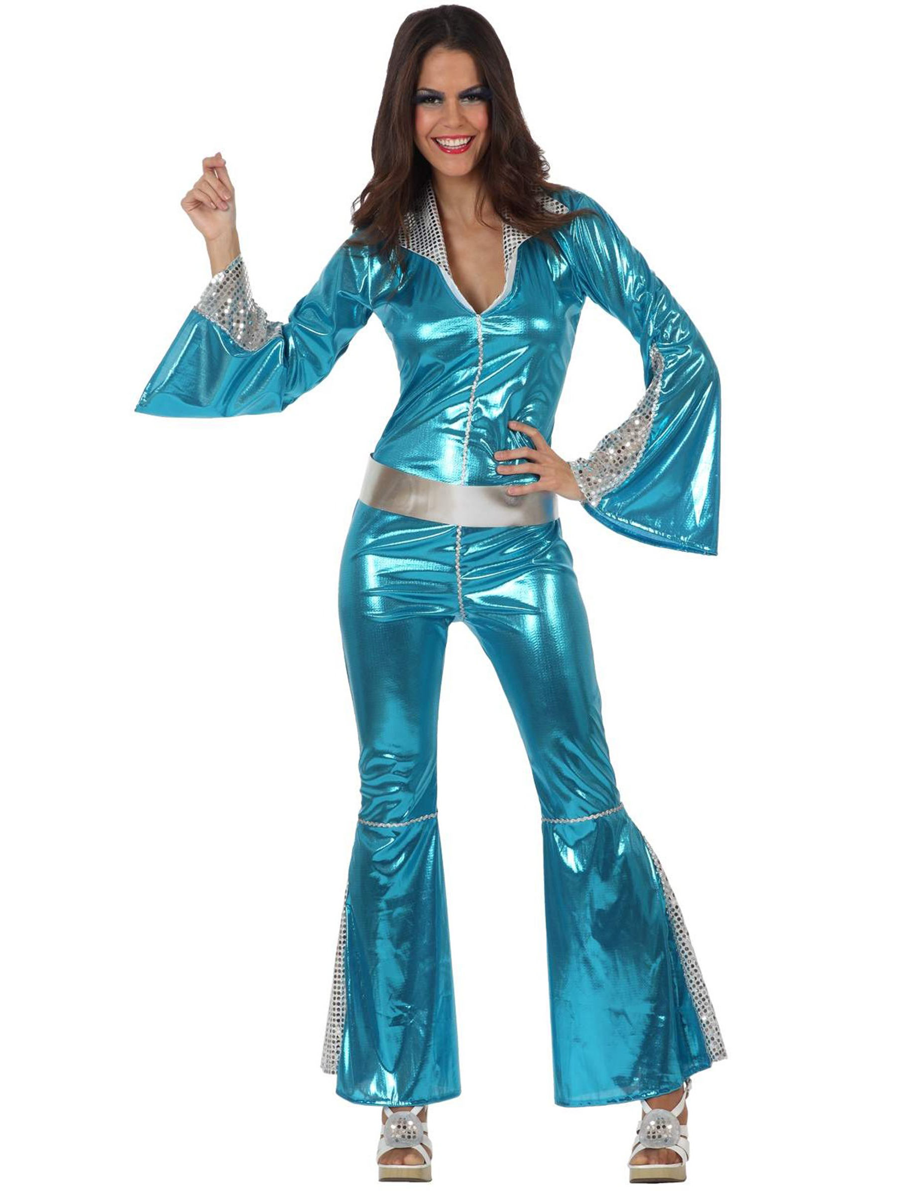 silber blaues disco kost m f r damen kost me f r. Black Bedroom Furniture Sets. Home Design Ideas