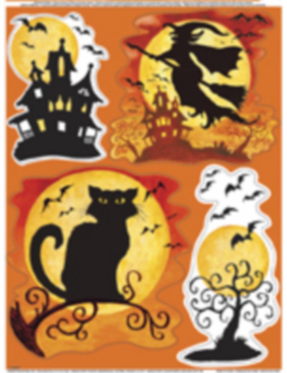 Halloween aufkleber f r fenster partydeko und g nstige - Halloween fenster projektion ...