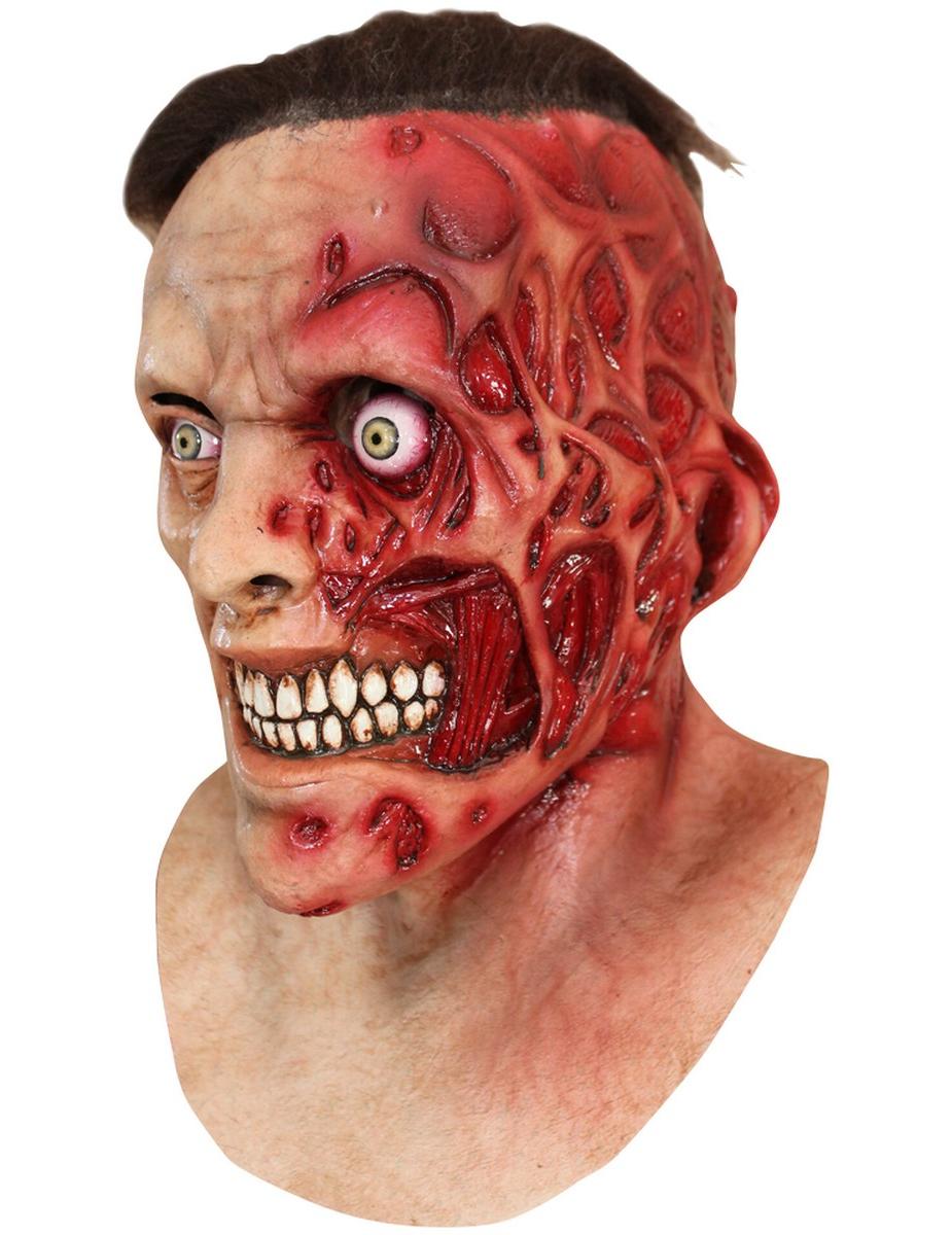 verbranntes gesicht maske halloween f r erwachsene masken und g nstige faschingskost me vegaoo. Black Bedroom Furniture Sets. Home Design Ideas