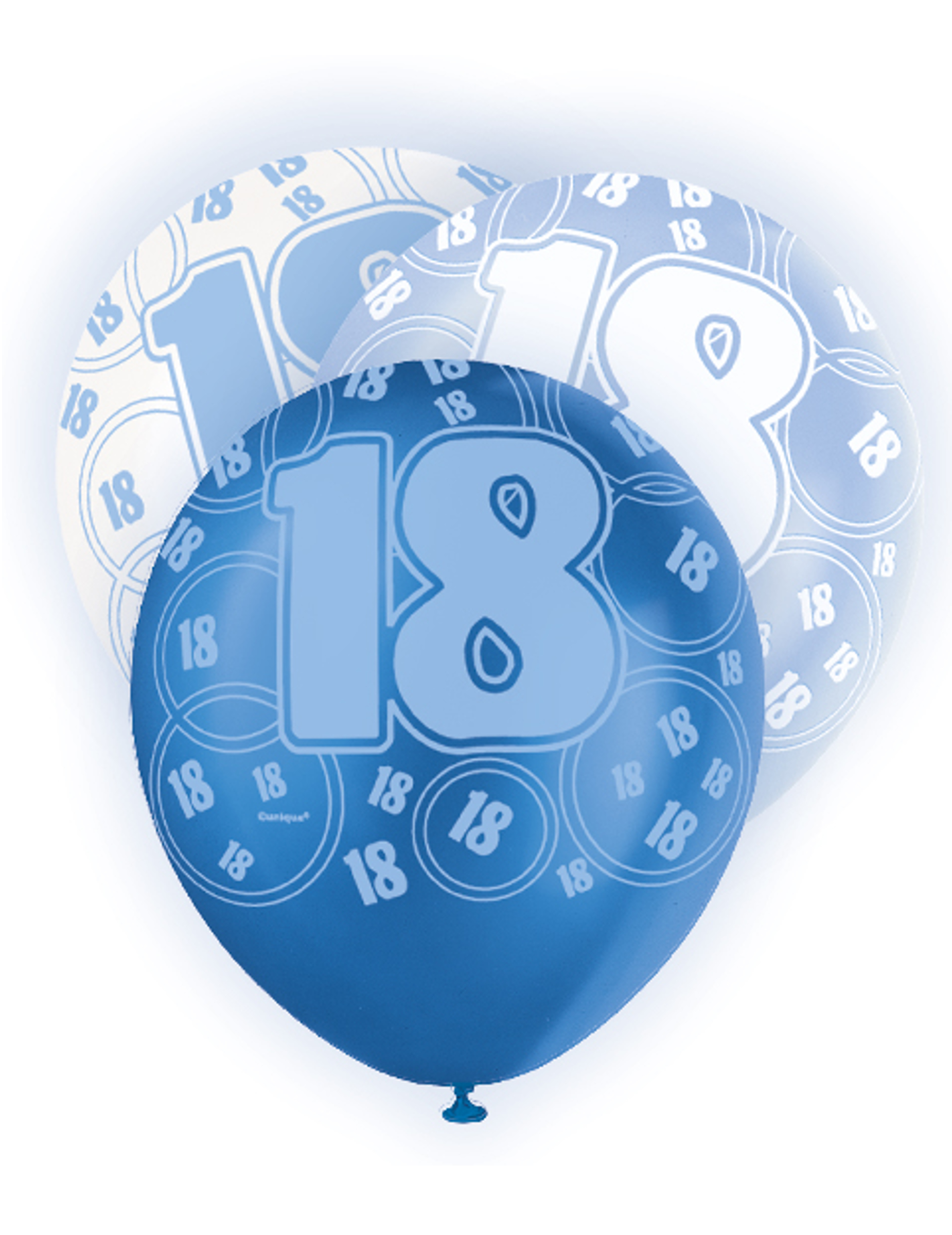 blauer luftballon zum 18 geburtstag partydeko und. Black Bedroom Furniture Sets. Home Design Ideas