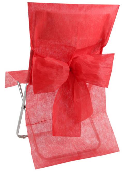 10 rote Stuhl-Hussen 57483