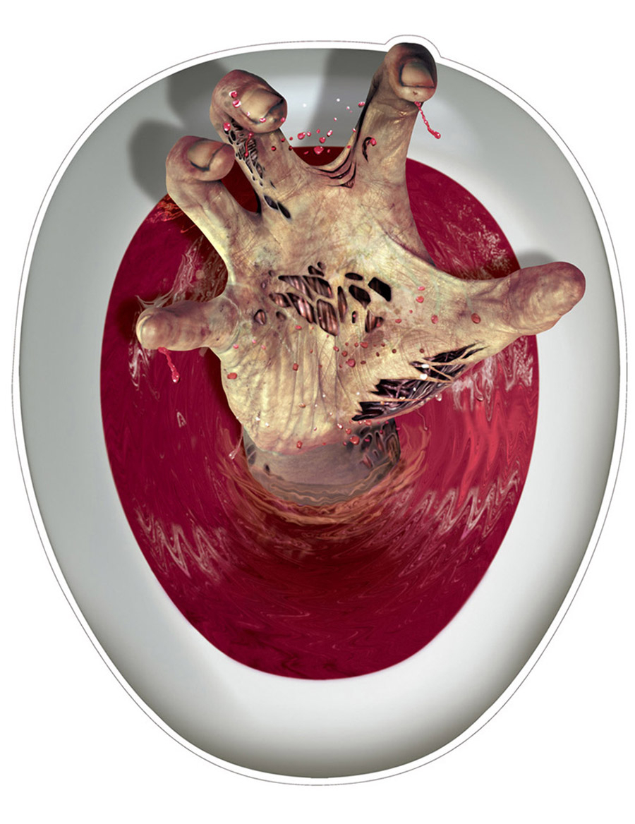 zombiehand aufkleber fr wc sitze