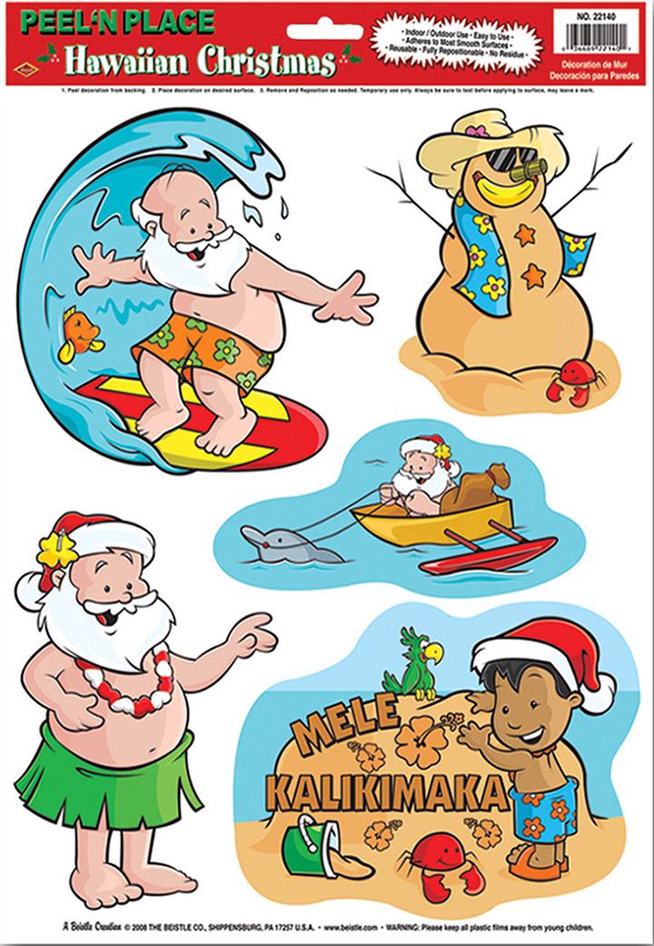 sticker weihnachten auf hawaii partydeko und g nstige