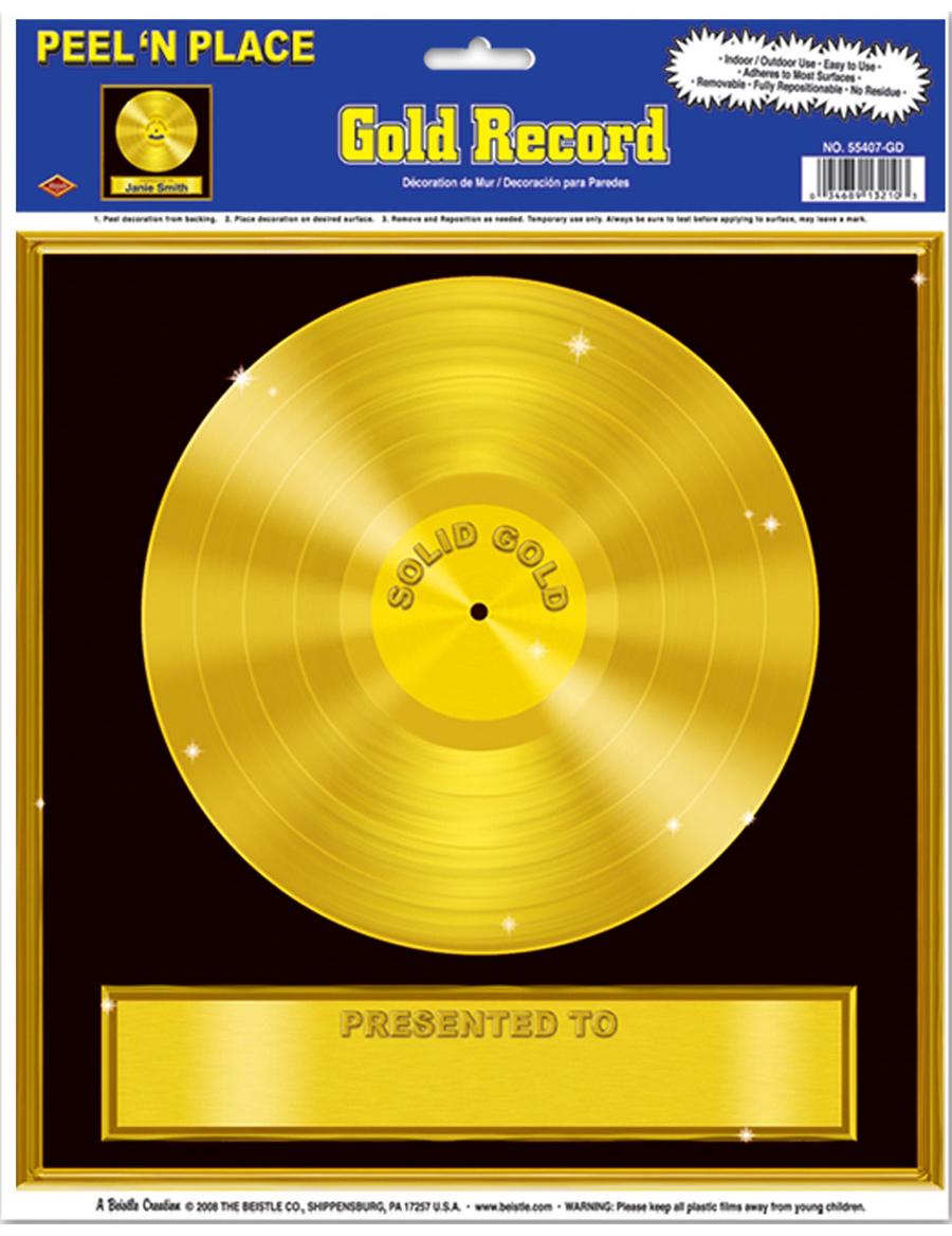 Goldene schallplatte wanddeko partydeko und g nstige - Goldene wanddeko ...