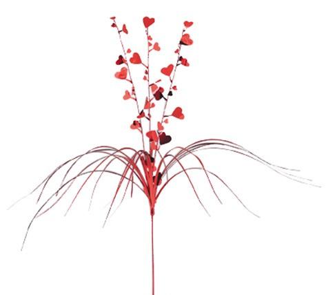 Rote Wasserfall Deko Mit Herzen Und Palmwedel Partydekound