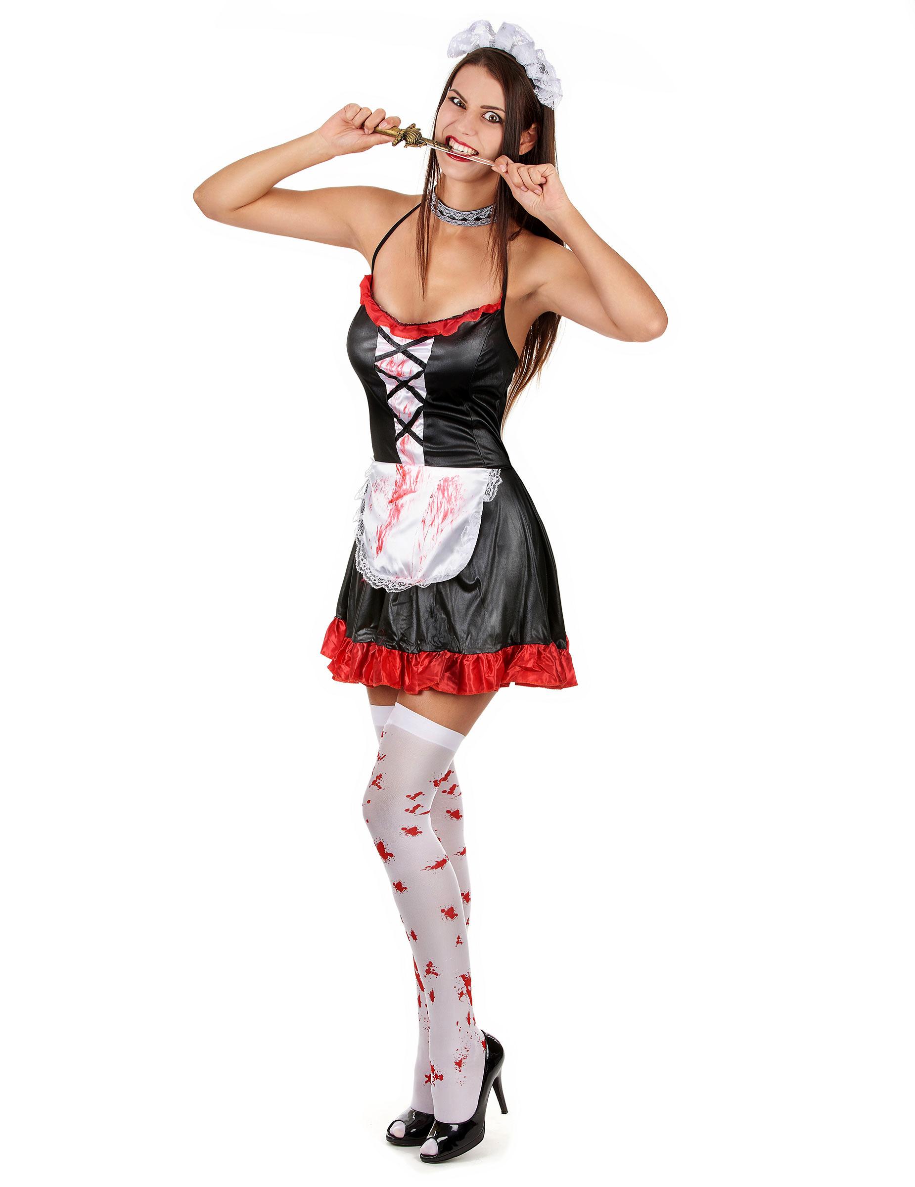 Blutiges Zofen-Kostüm für Damen - S 59551