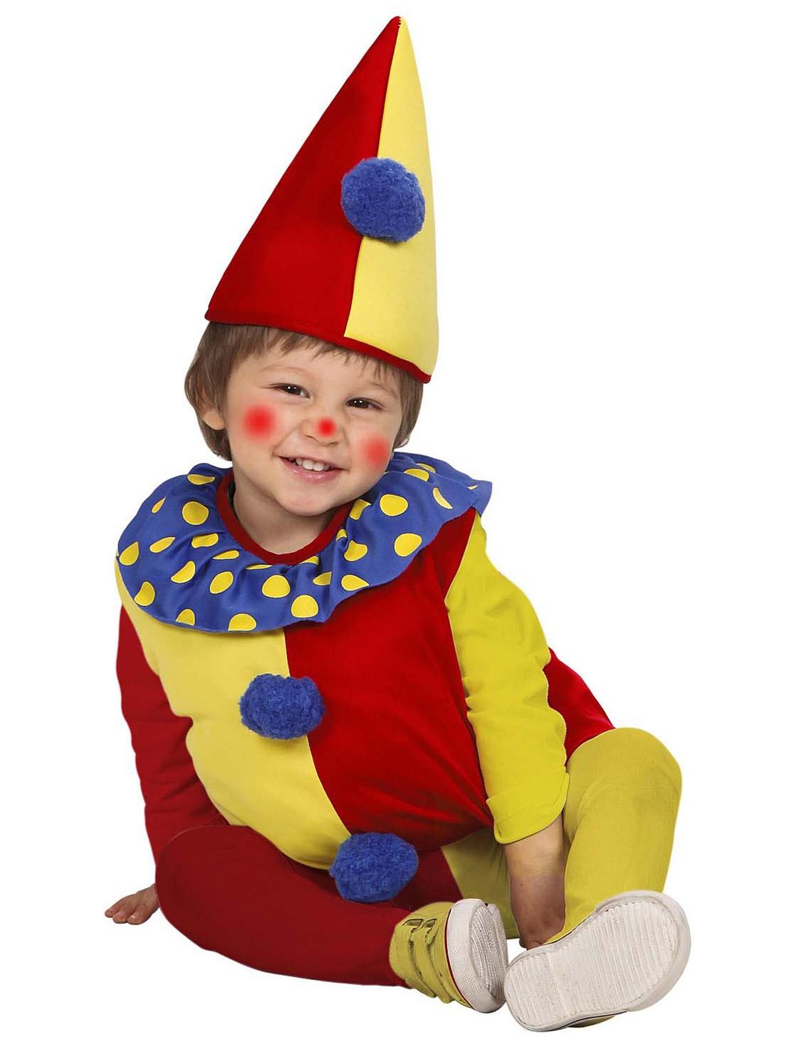 rot gelbes clowns kost m f r kinder kost me f r kinder und g nstige faschingskost me vegaoo. Black Bedroom Furniture Sets. Home Design Ideas