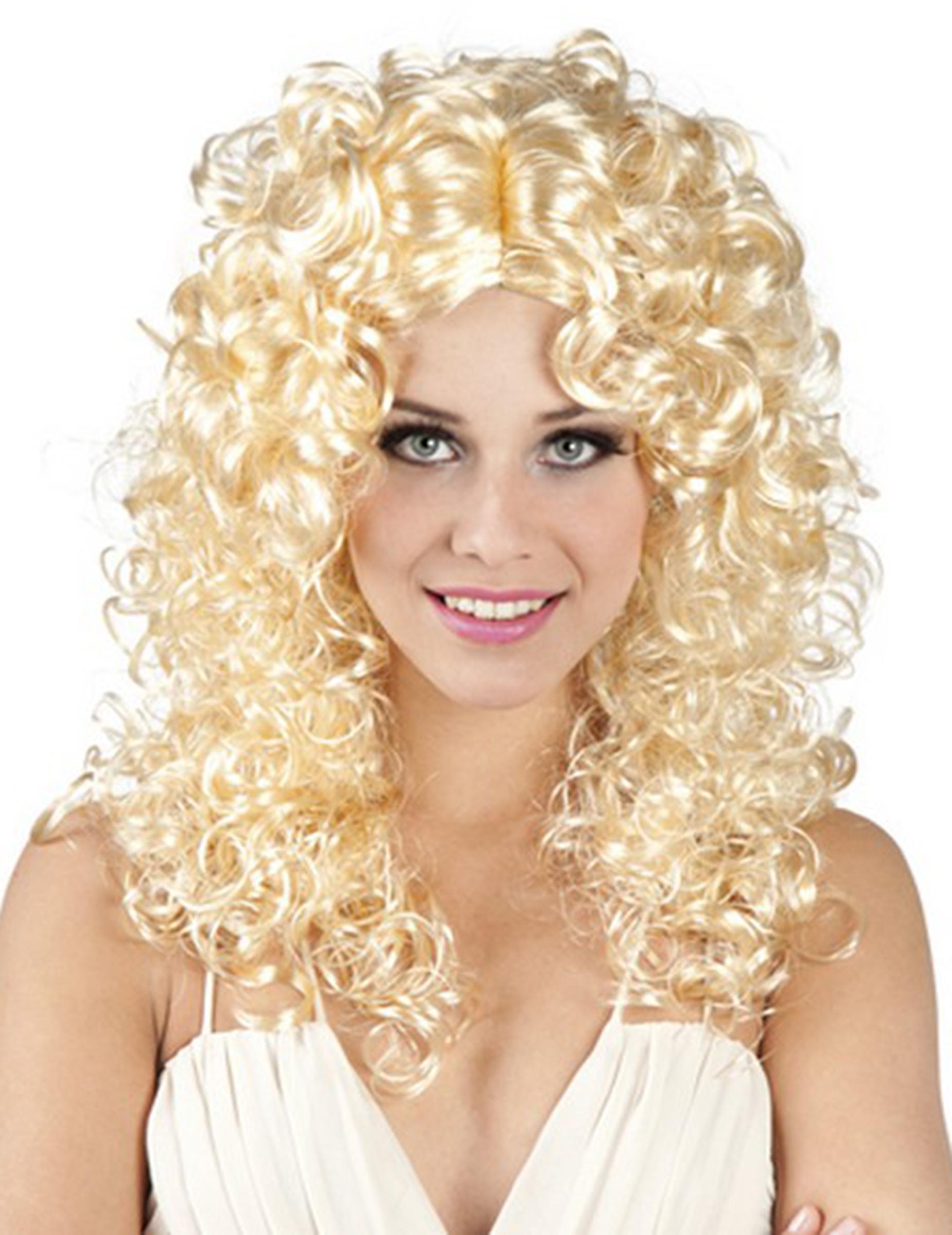 Blonde Locken Perucke Fur Damen