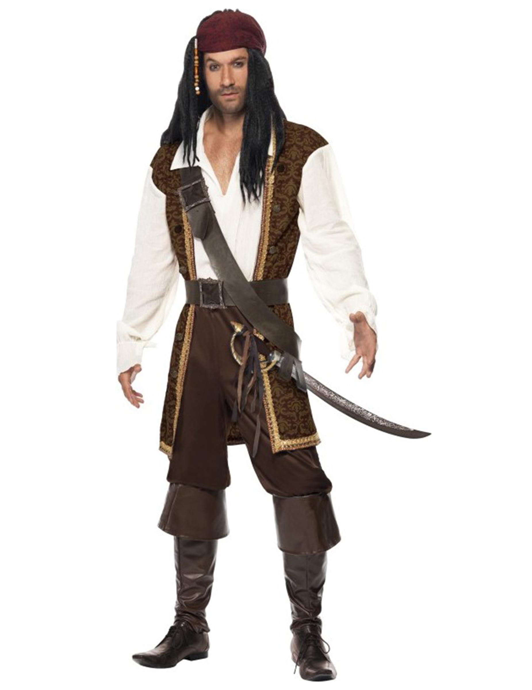 braunes piraten kost m f r herren kost me f r erwachsene. Black Bedroom Furniture Sets. Home Design Ideas