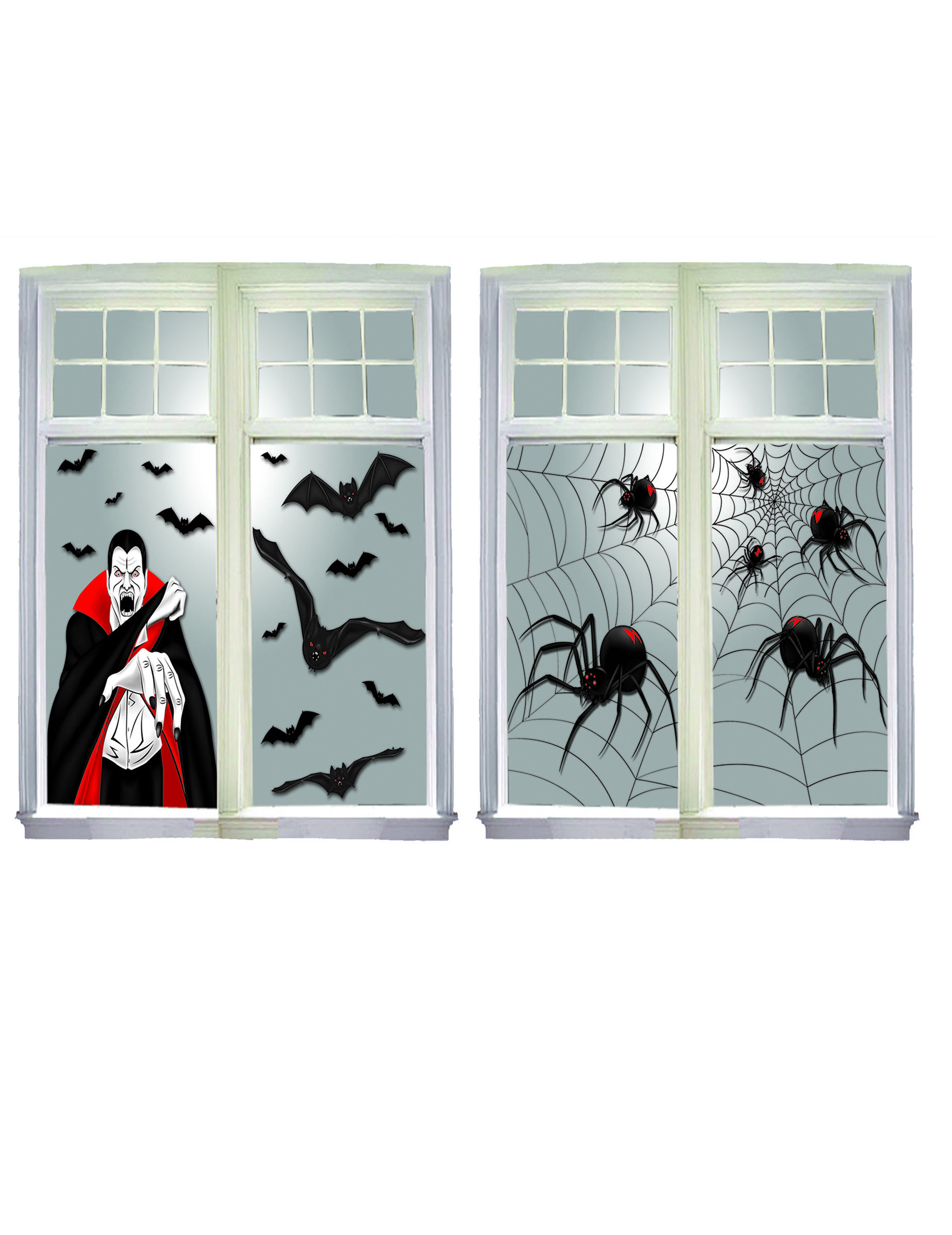 halloween fenster deko partydeko und g nstige faschingskost me vegaoo. Black Bedroom Furniture Sets. Home Design Ideas
