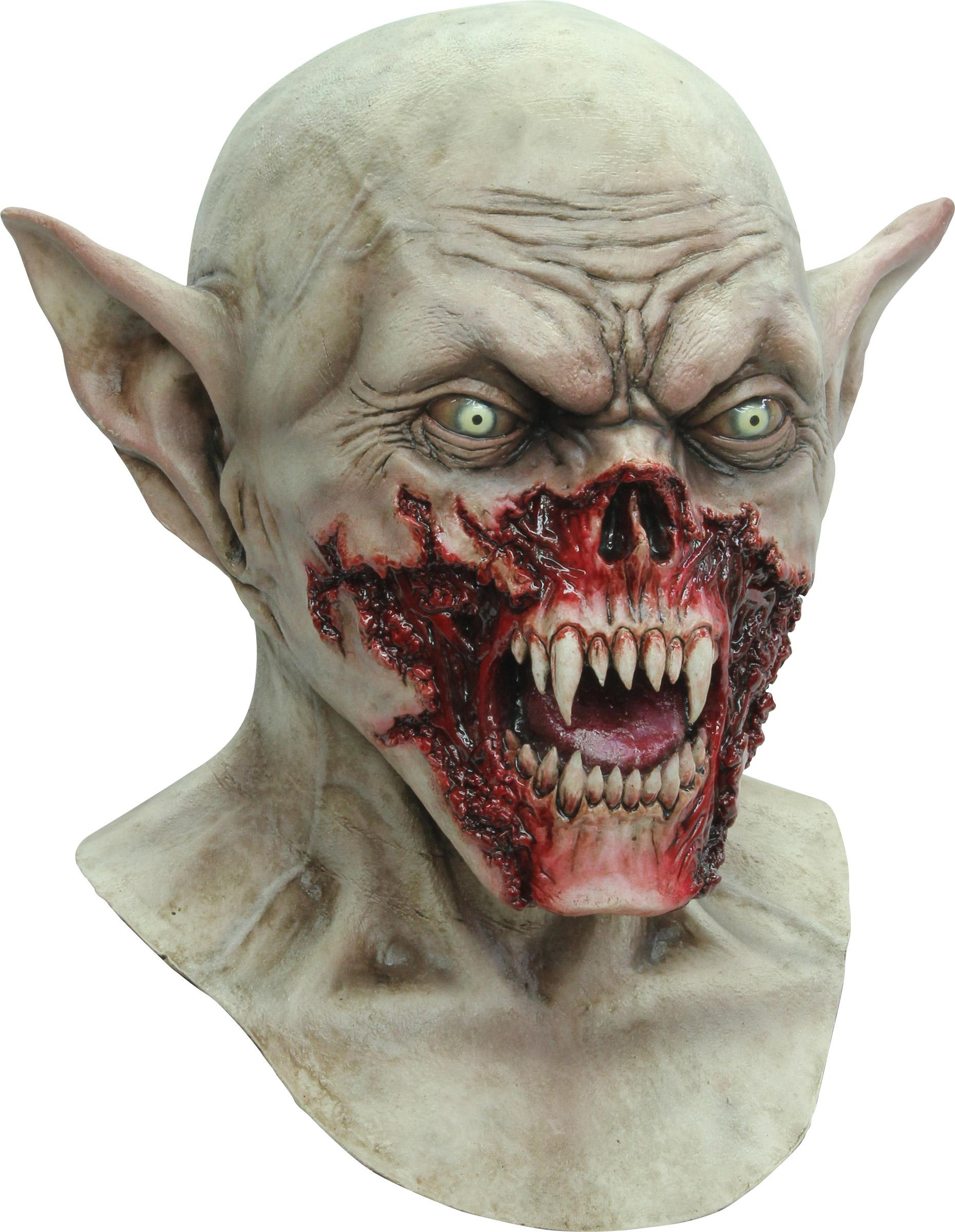 Halloween blutverschmierte kreaturen maske f r erwachsene masken und g nstige faschingskost me - Masque halloween qui fait peur ...