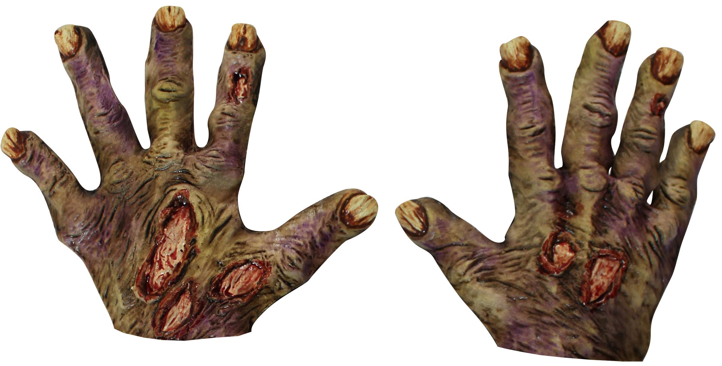 Halloween Zombie-Handschuhe mit gelben Nägeln für Erwachsene ...