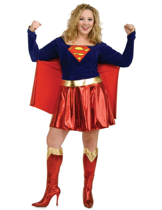 Supergirl Karnevalskostüm große Größe - XL 40714