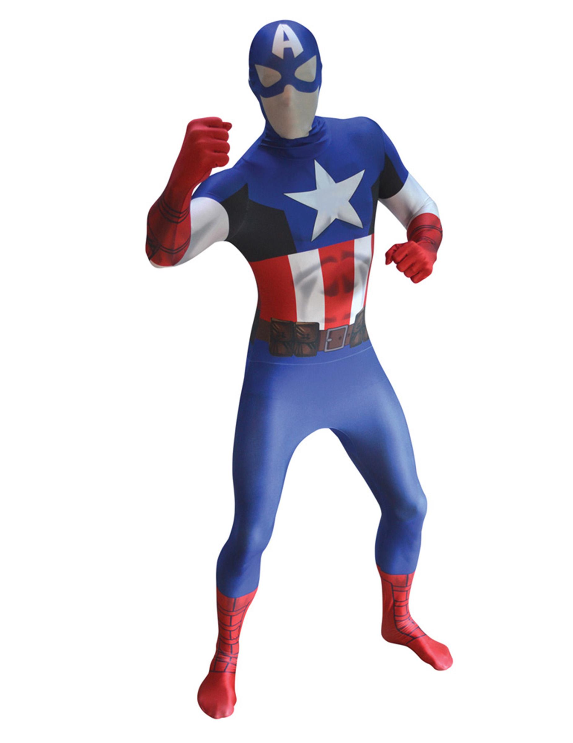 hautenges captain america kost m f r erwachsene kost me. Black Bedroom Furniture Sets. Home Design Ideas