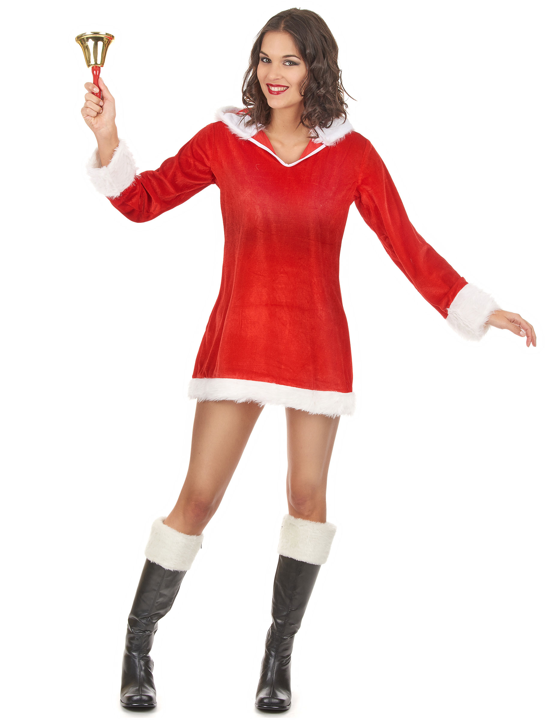 verf hrerisches weihnachtsfrau kost m f r damen kost me. Black Bedroom Furniture Sets. Home Design Ideas