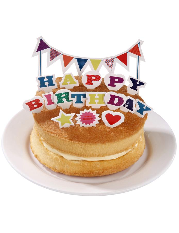 Dekoration happy birthday f r kuchen und torten partydeko - Dekoration fur torten ...