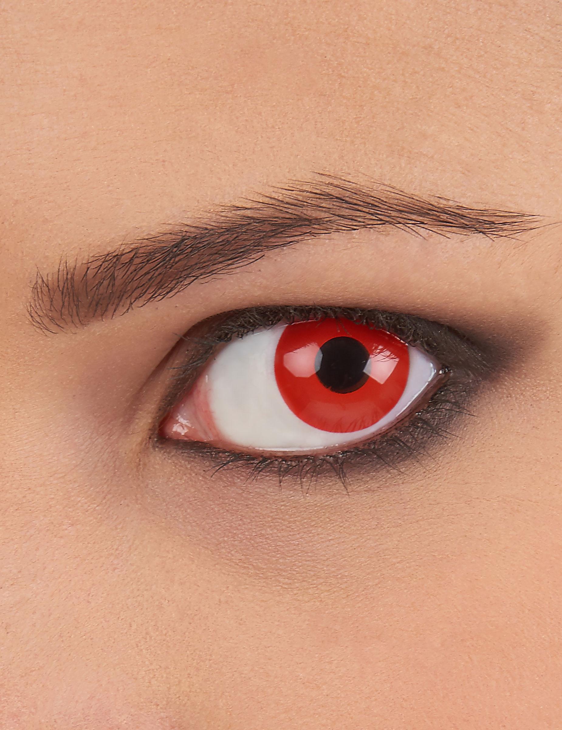 rote kontaktlinsen schminke und g nstige faschingskost me. Black Bedroom Furniture Sets. Home Design Ideas