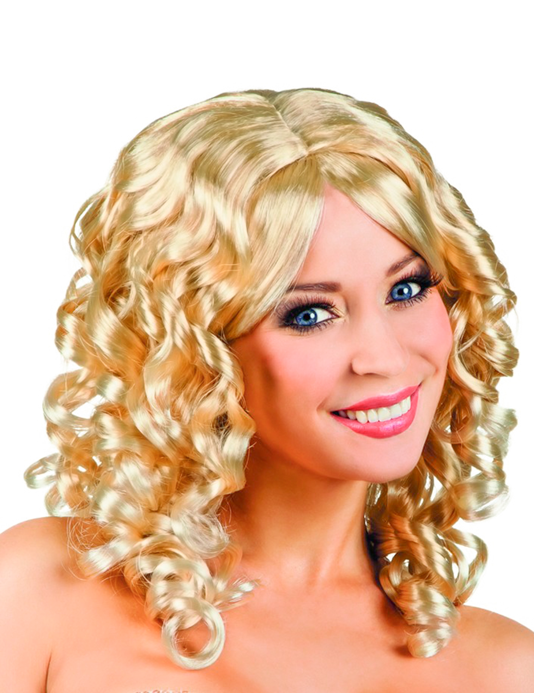Damenperücke blonde Locken 68285