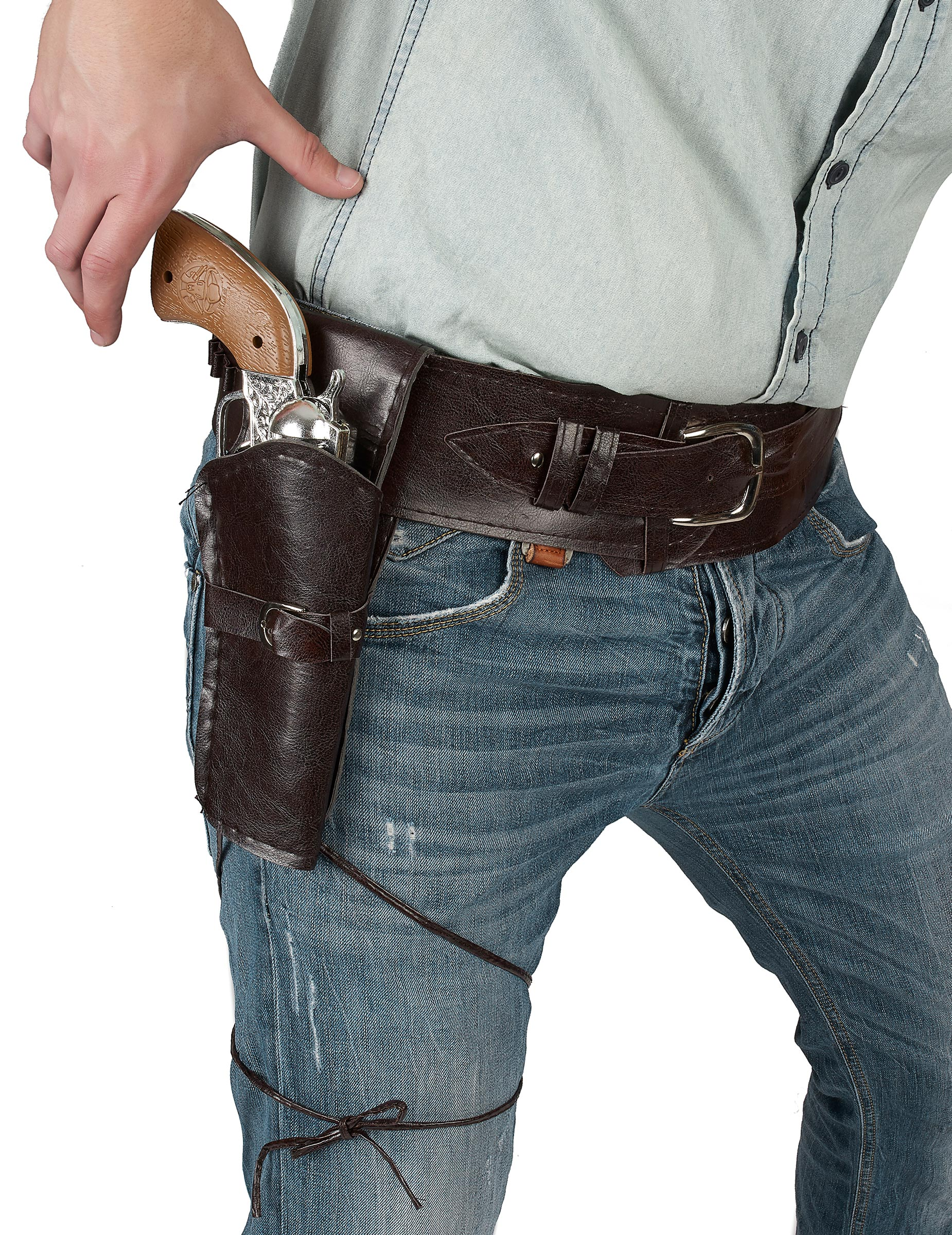 Cowboy-Gürtel mit Waffen-Etui für Erwachsene 68363