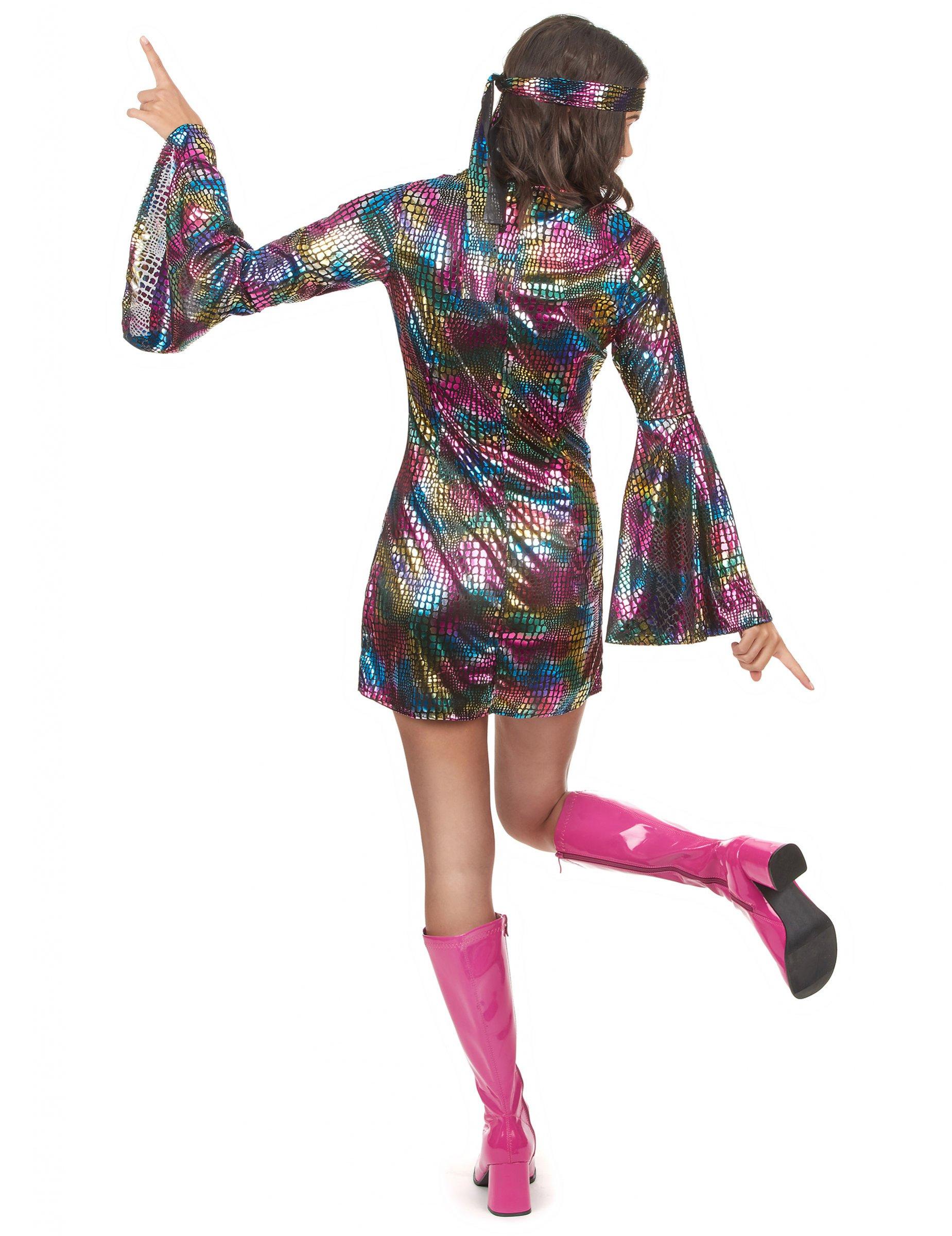 70er jahre disco outfit f r damen bunt kost me f r. Black Bedroom Furniture Sets. Home Design Ideas