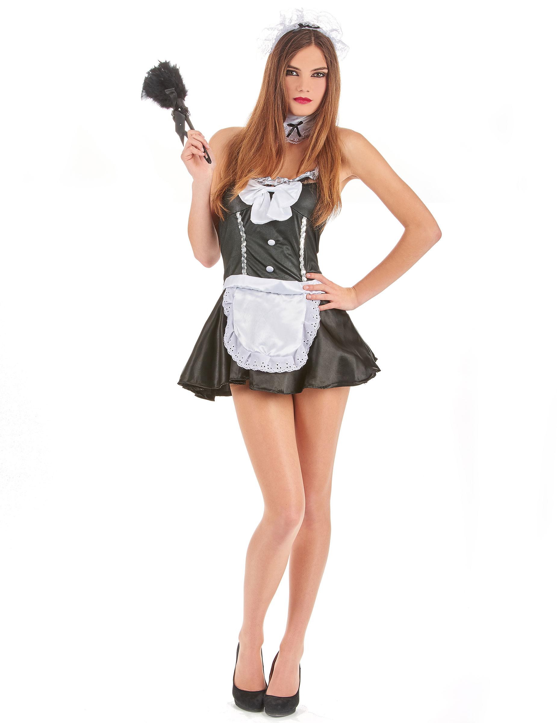 Zimmermädchen Kostüm für Damen - S 68763