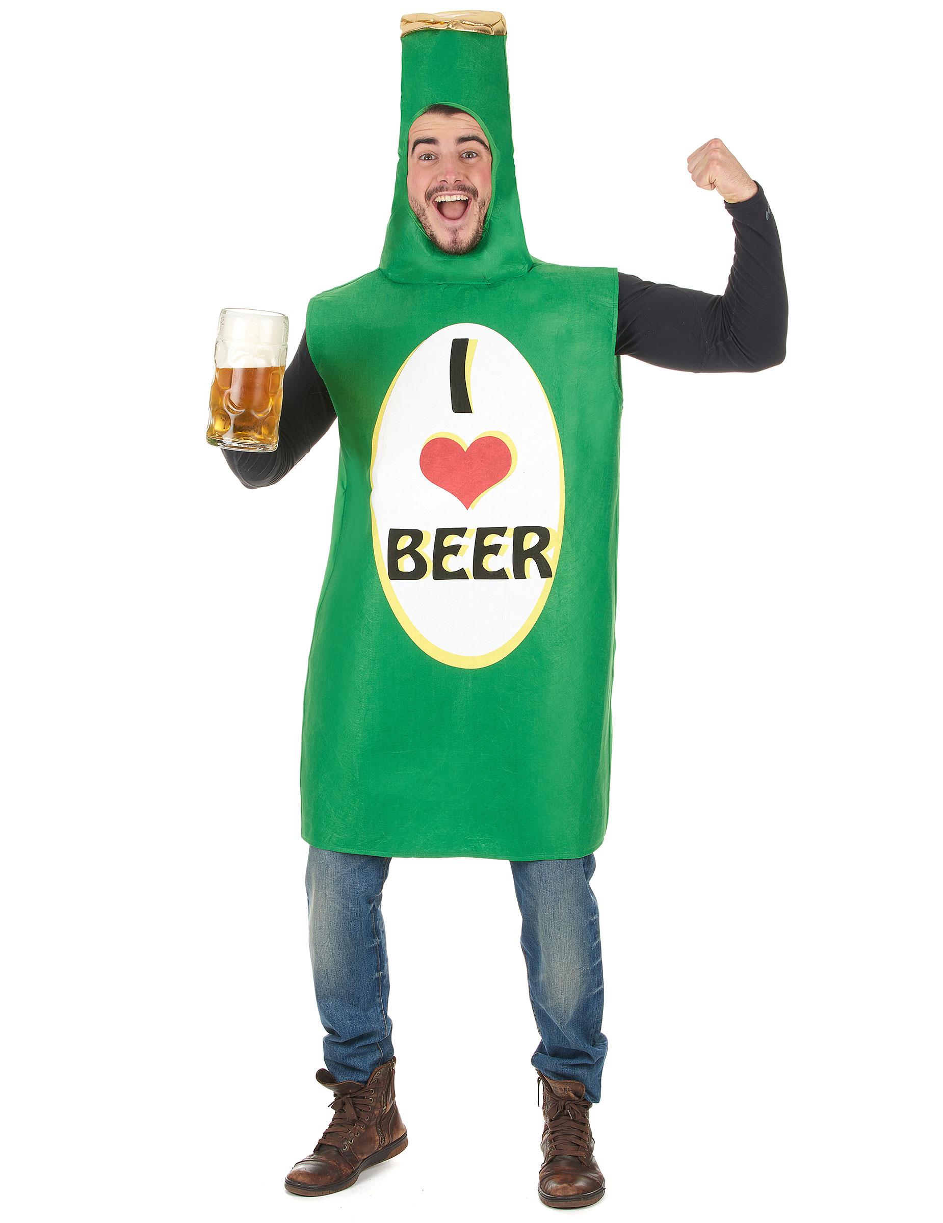 Bierflasche Kostüm für Erwachsene 68825