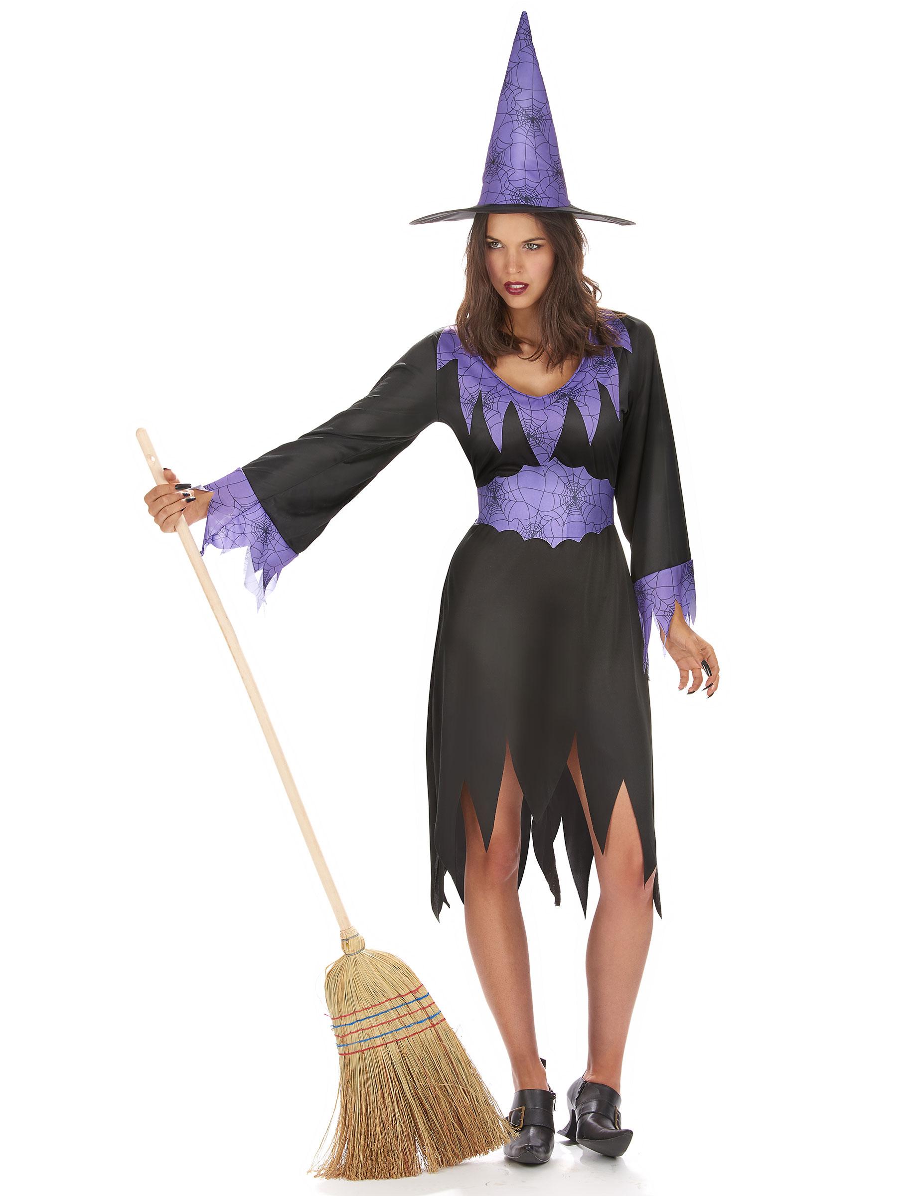 Hexen Verkleidung für Damen - günstig und fliederfarben bei VEGAOO