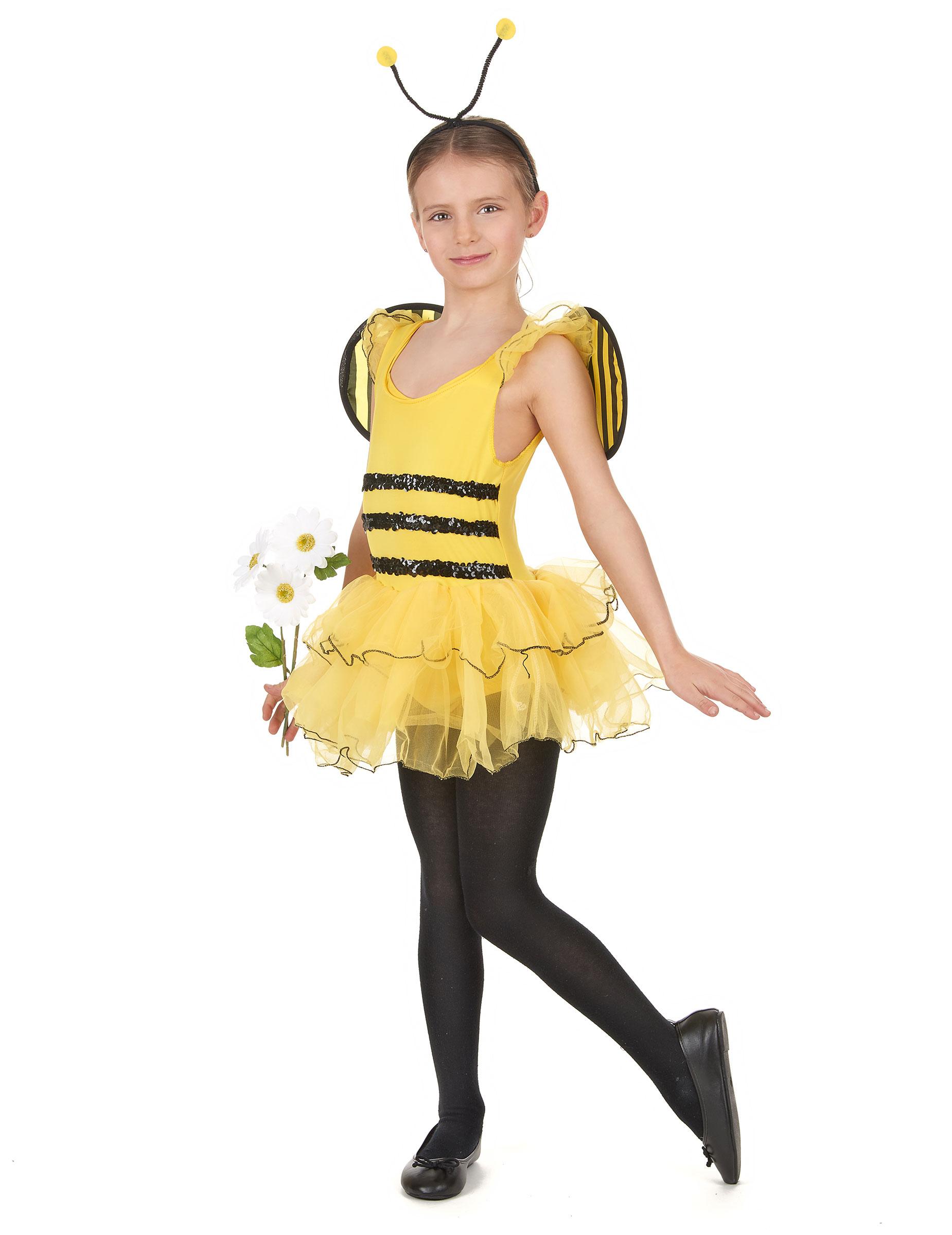 Bienchen Kostüm für Mädchen - 110/116 (4-6 Jahre) 68868