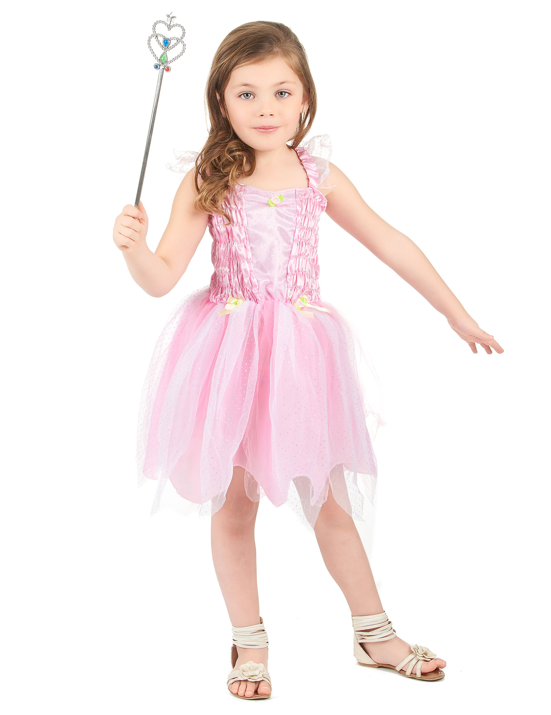 *Rosa Prinzessin-Fee Kostüm für Mädchen*