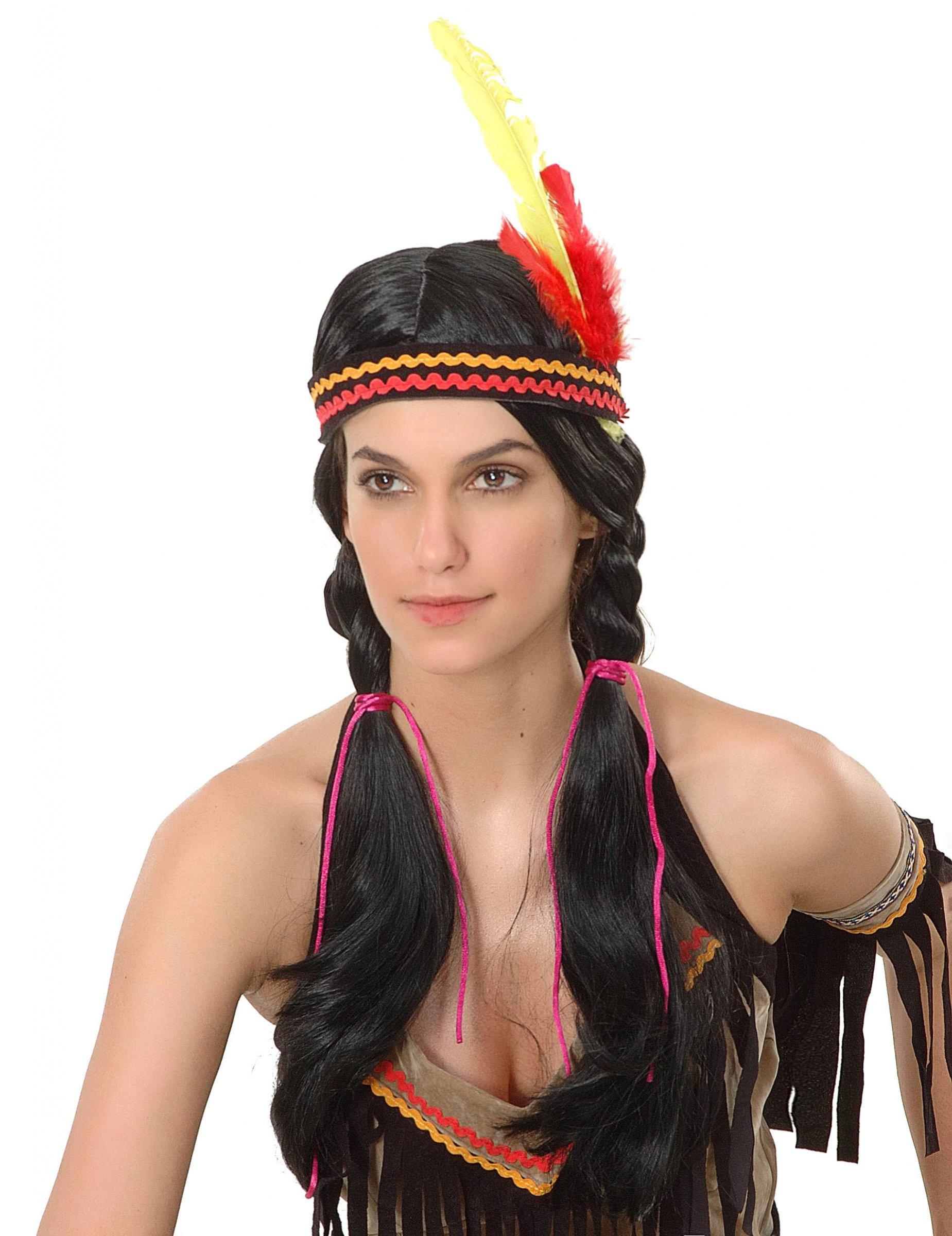 indianerinnen per cke f r frauen per cken und g nstige faschingskost me vegaoo. Black Bedroom Furniture Sets. Home Design Ideas