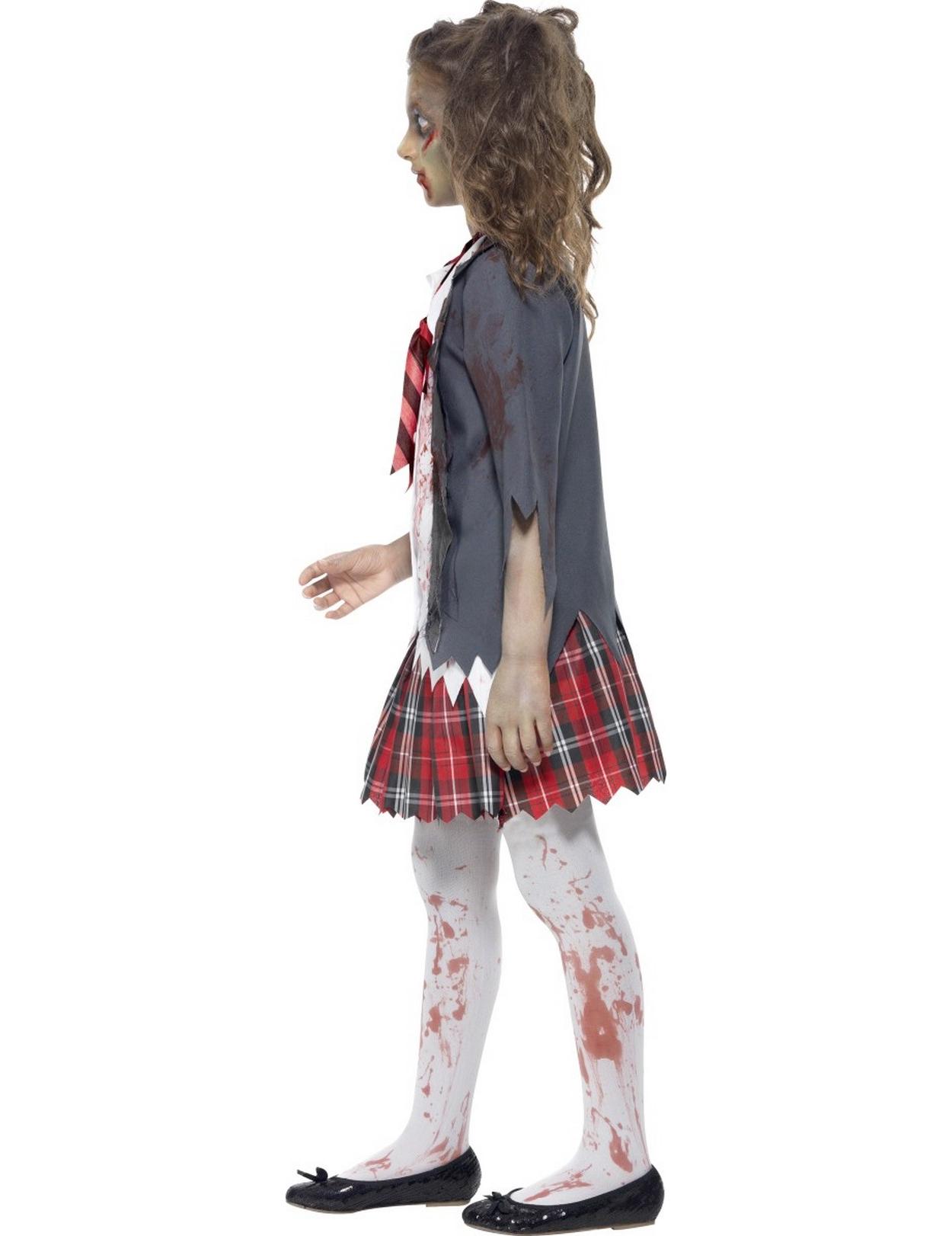 halloween zombie sch lerinnen verkleidung f r m dchen kost me f r kinder und g nstige. Black Bedroom Furniture Sets. Home Design Ideas