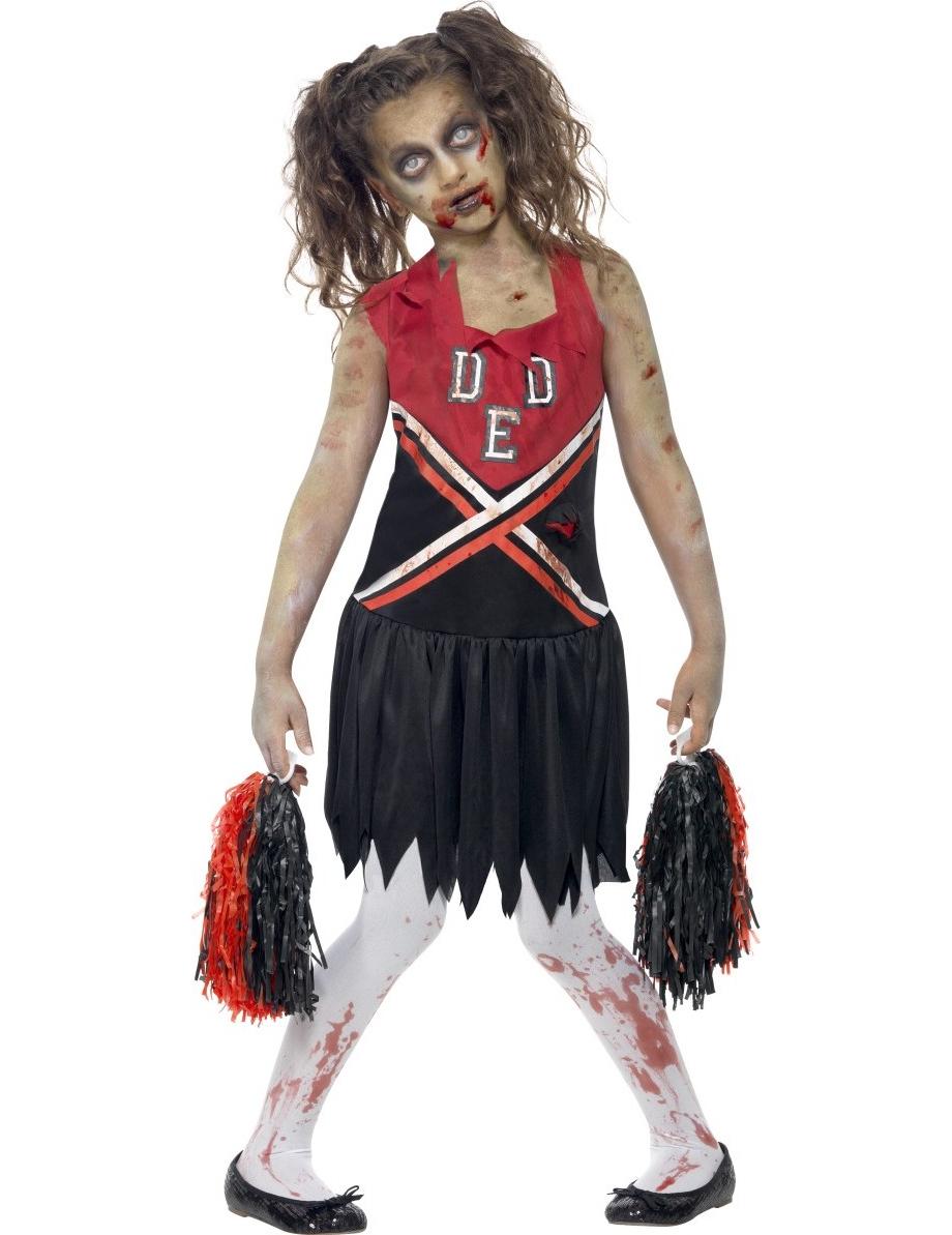 halloween zombie cheerleader kost m f r m dchen. Black Bedroom Furniture Sets. Home Design Ideas