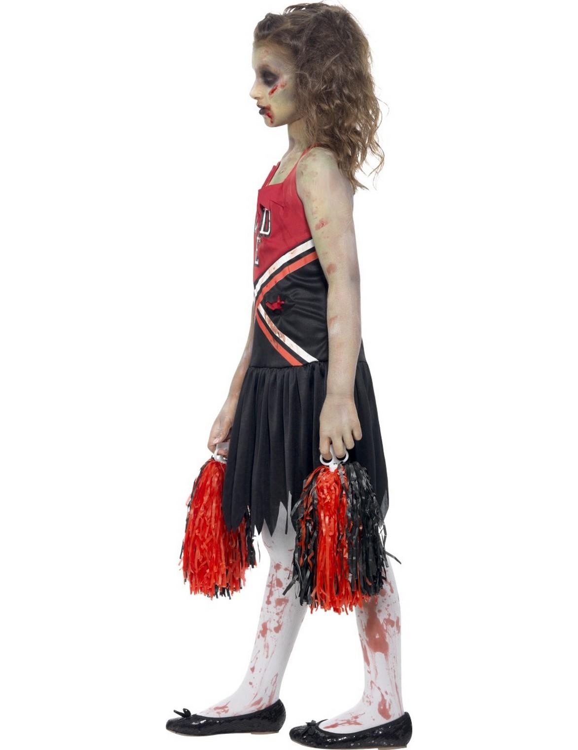 halloween zombie cheerleader kost m f r m dchen kost me f r kinder und g nstige. Black Bedroom Furniture Sets. Home Design Ideas