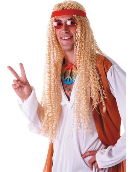 Blonde Hippie-Langhaar Perücke 71002