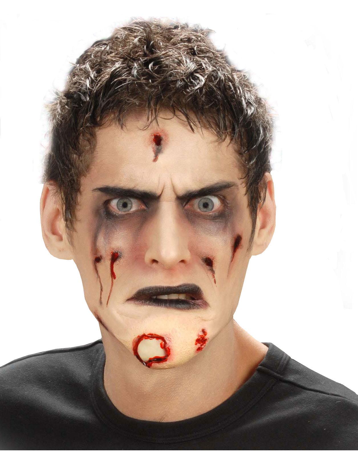 falsches zombie kinn f r erwachsene halloween schminke. Black Bedroom Furniture Sets. Home Design Ideas