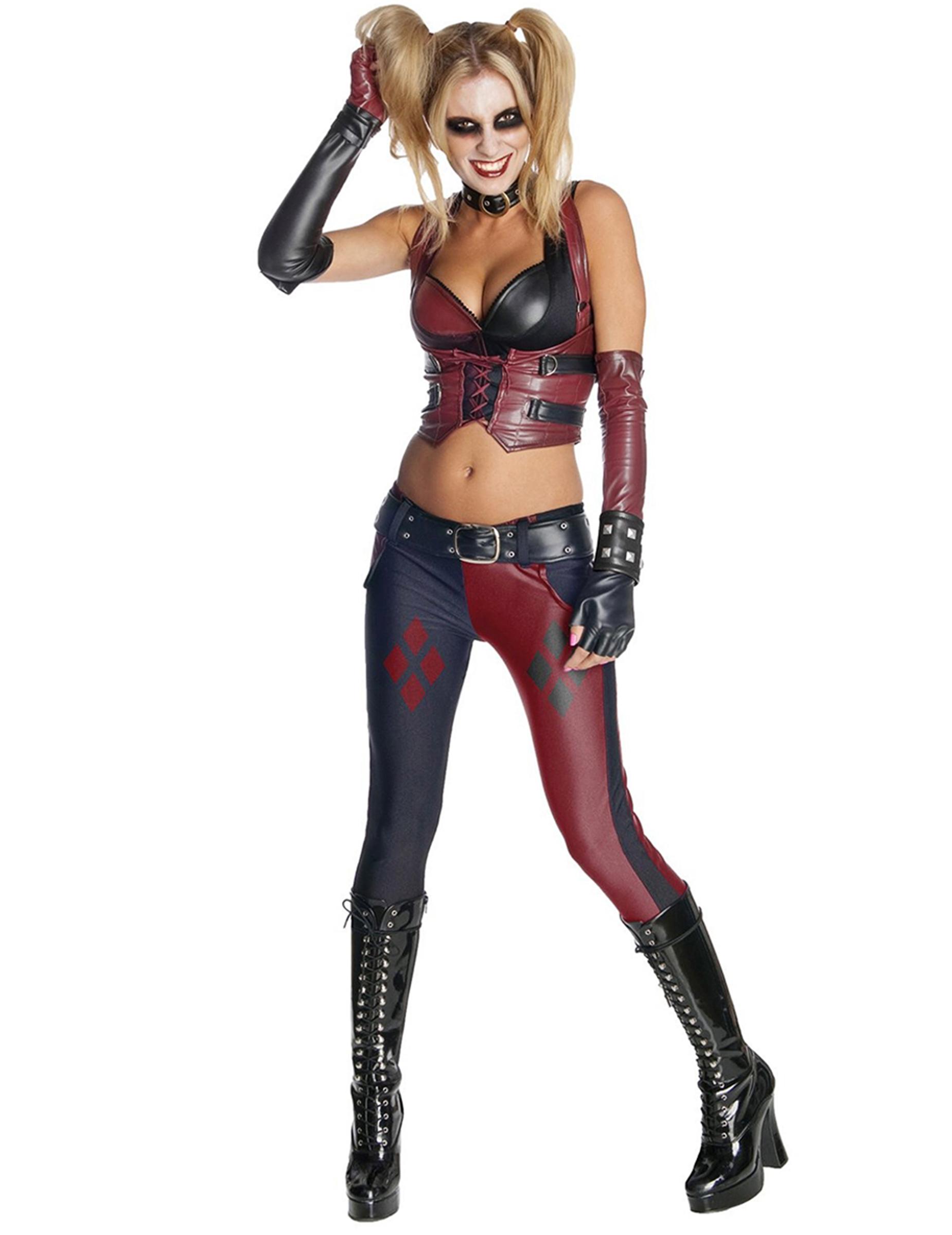 Harley Quinn Kostüm Für Damen Aus Batman Arkham City Kostüme Für