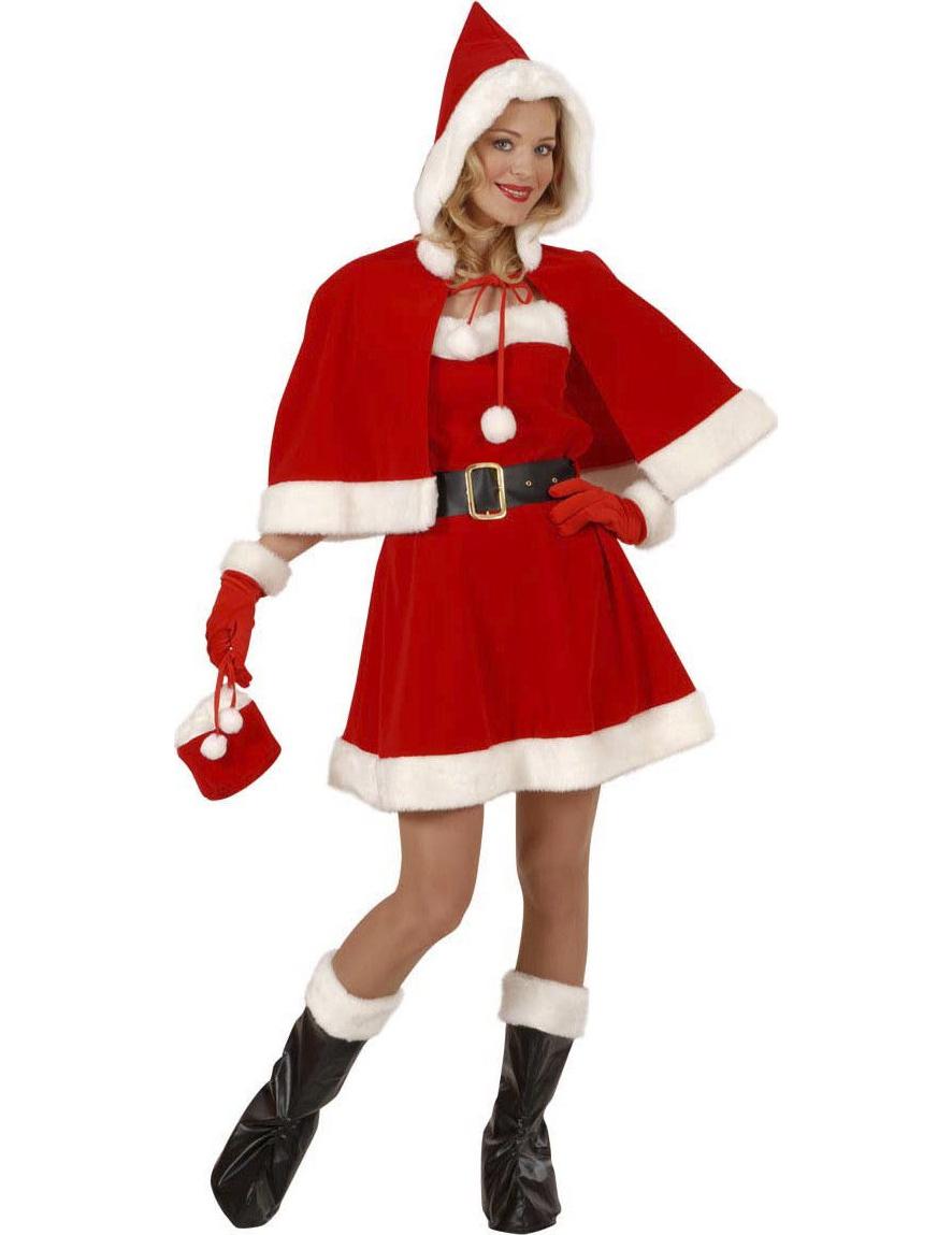 weihnachtsfrau deluxe kost m kost mideen bei vegaoo. Black Bedroom Furniture Sets. Home Design Ideas