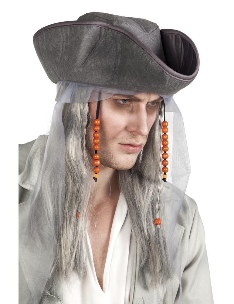 Graue Perücke eines Piraten für Männer 72527