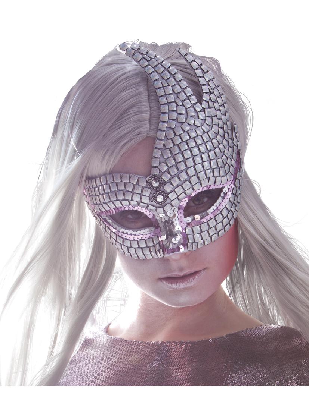 Venezianische Maske in silber 72546