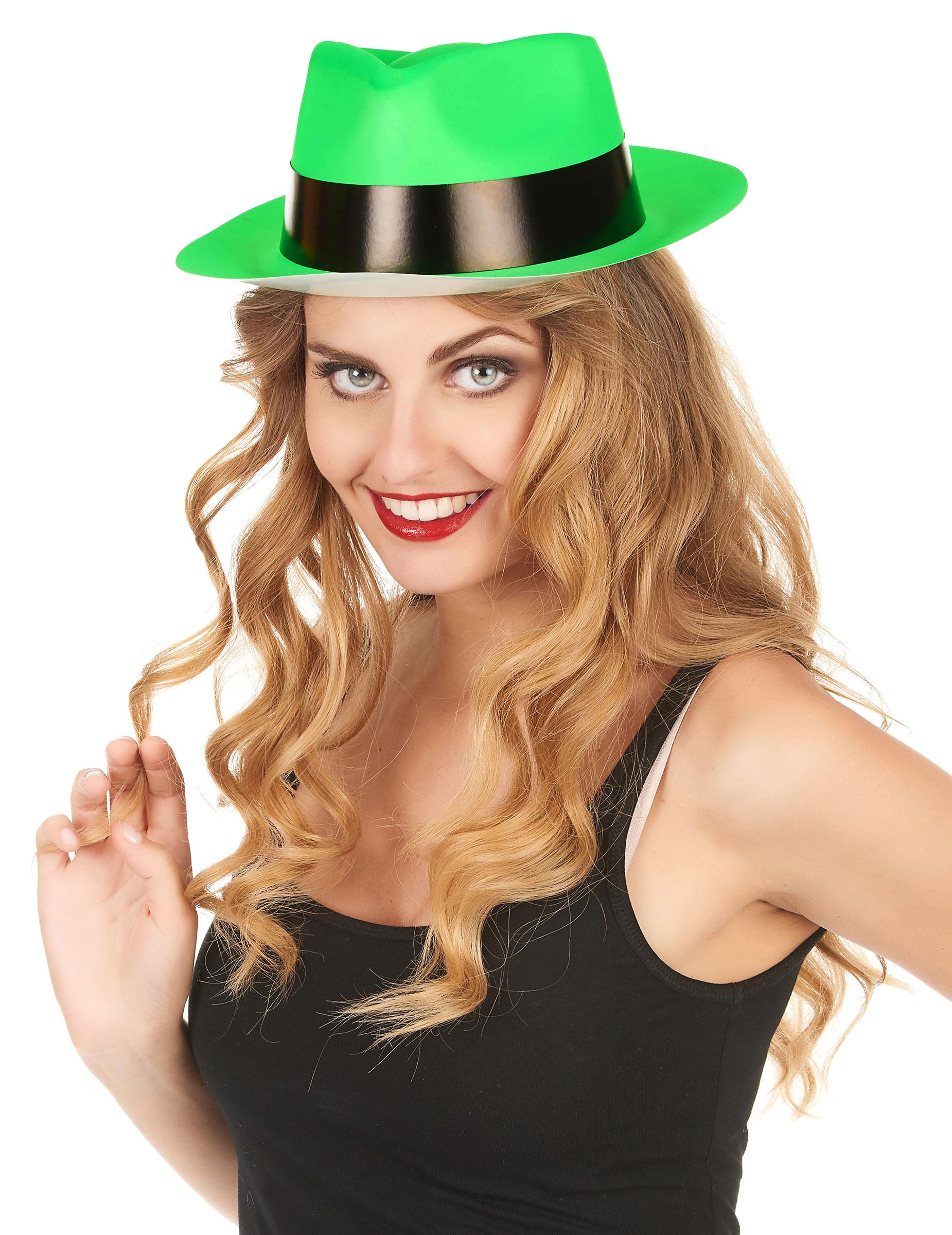 Party Hut neongrün für Erwachsene - stylishe Accessoires bei VEGAOO