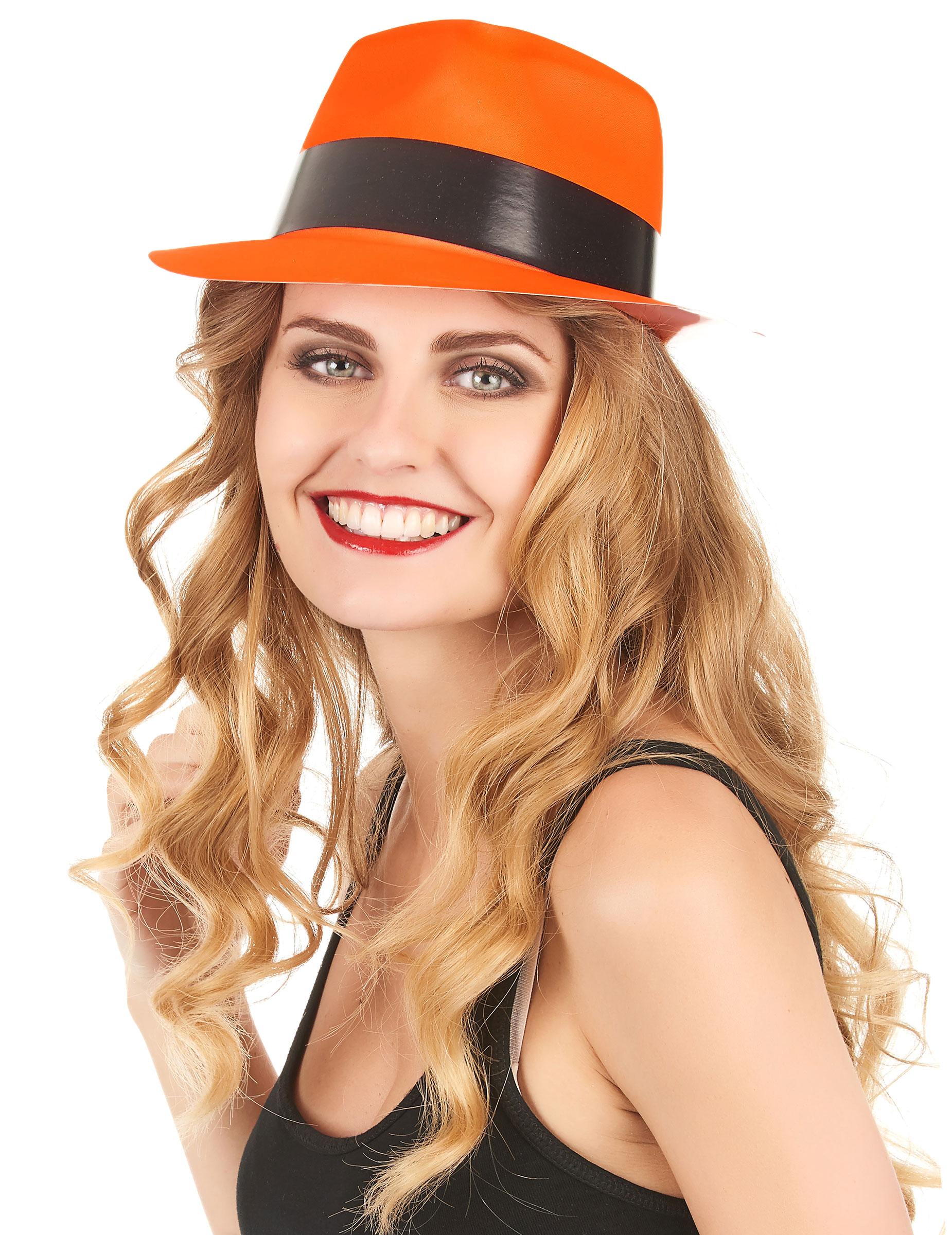 Party Hut neonorange für Erwachsene - stylishe Accessoires bei VEGAOO