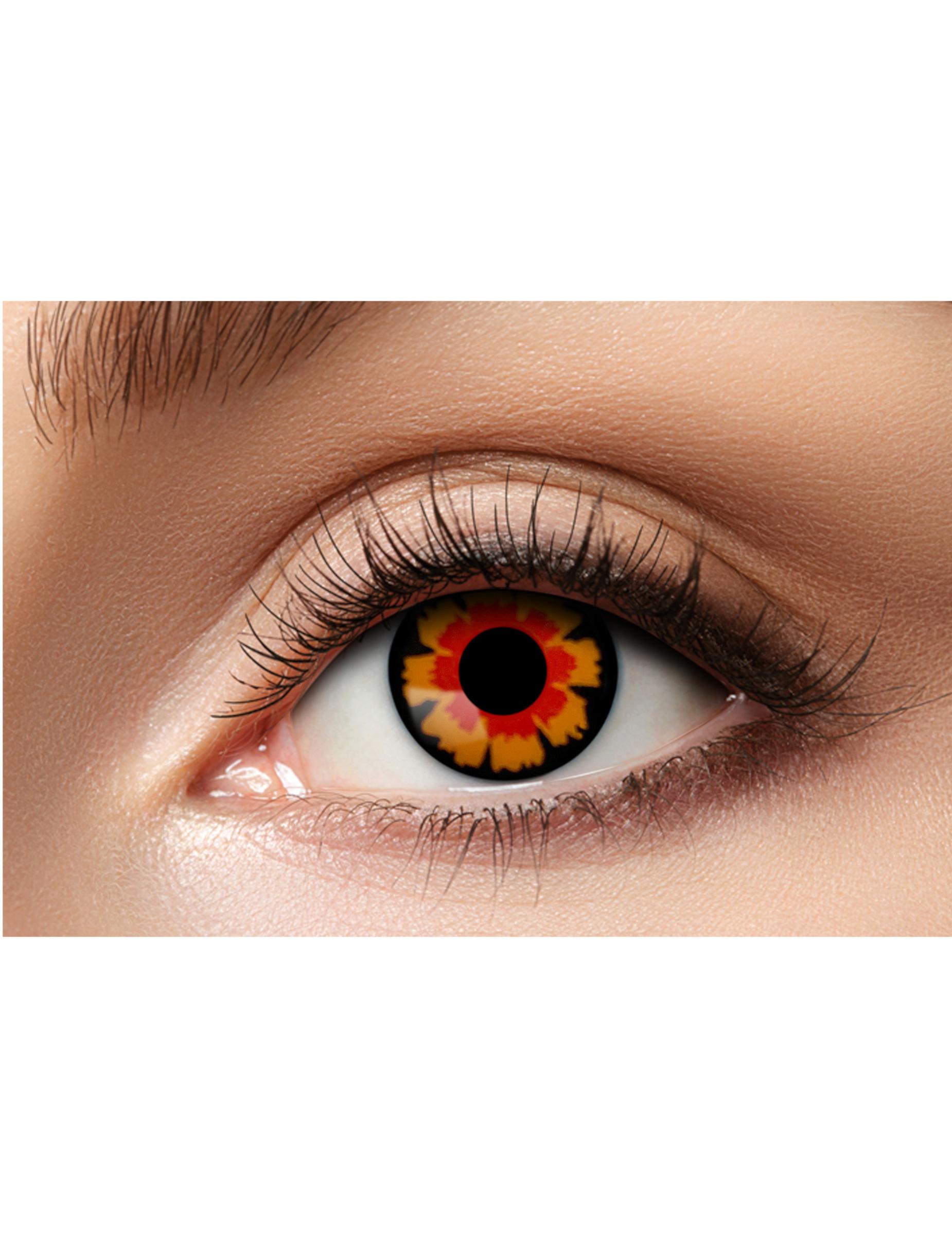Kontaktlinsen schwarz-rot 73274