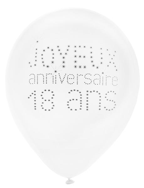 8 alles gute zum 18 geburtstag luftballons 25 cm. Black Bedroom Furniture Sets. Home Design Ideas
