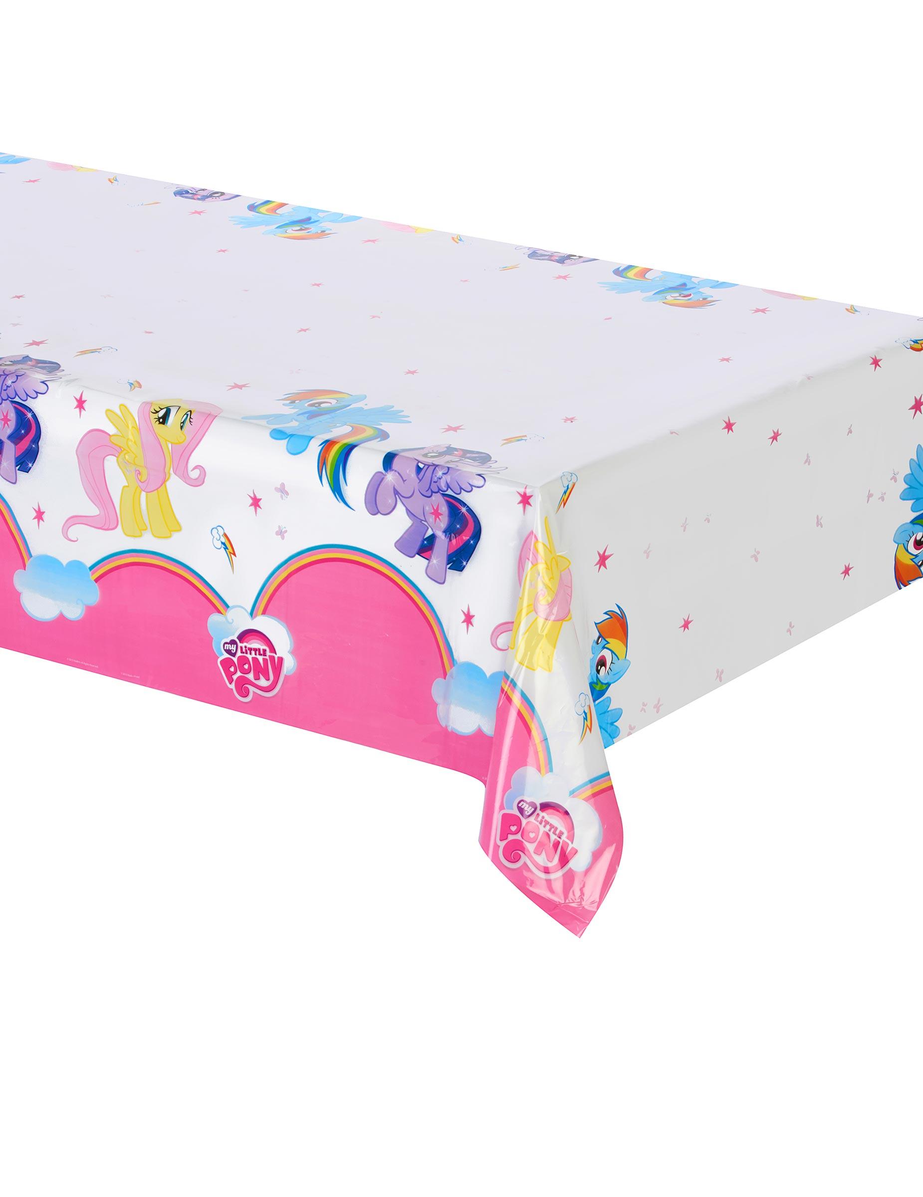 tischdecke aus plastik mein kleines pony partydeko und g nstige faschingskost me vegaoo. Black Bedroom Furniture Sets. Home Design Ideas