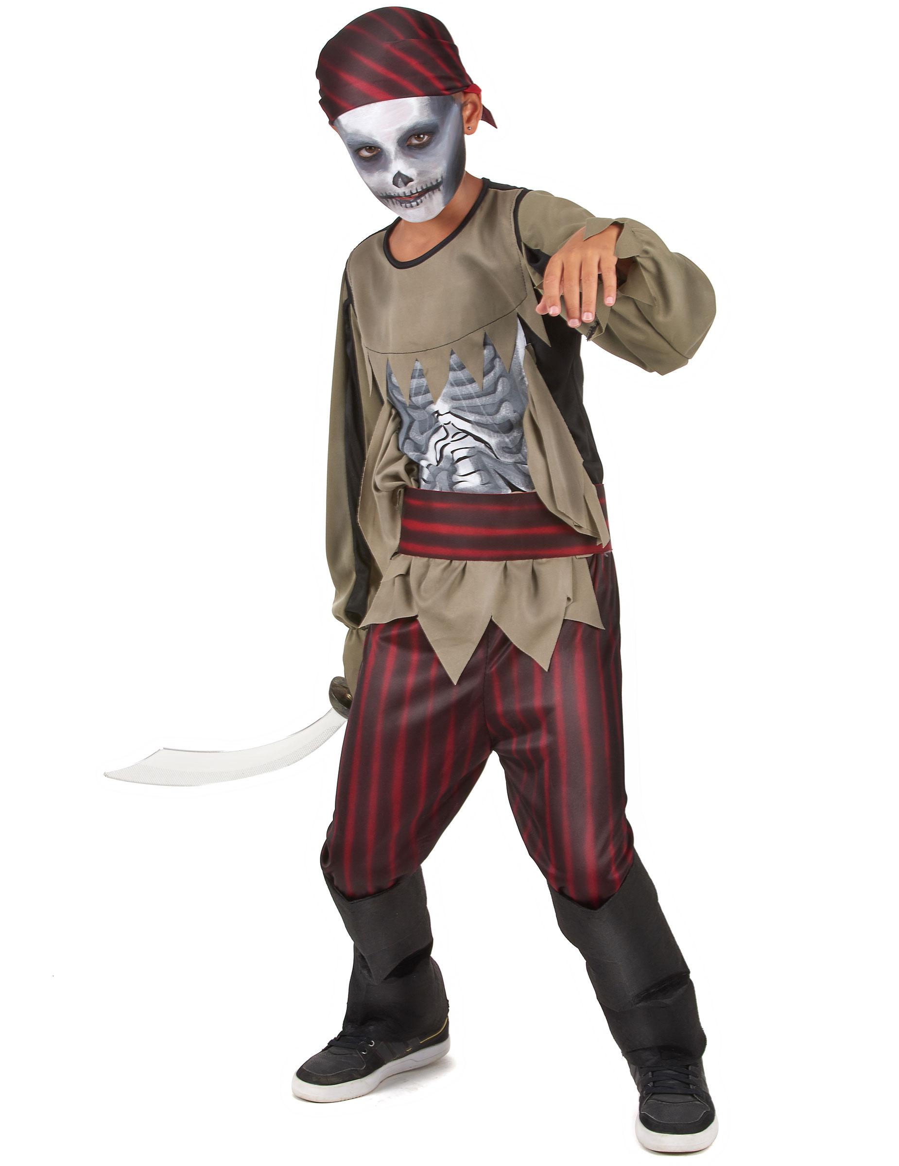 Zombie-Piratenkostüm für Jungs Cod.226035