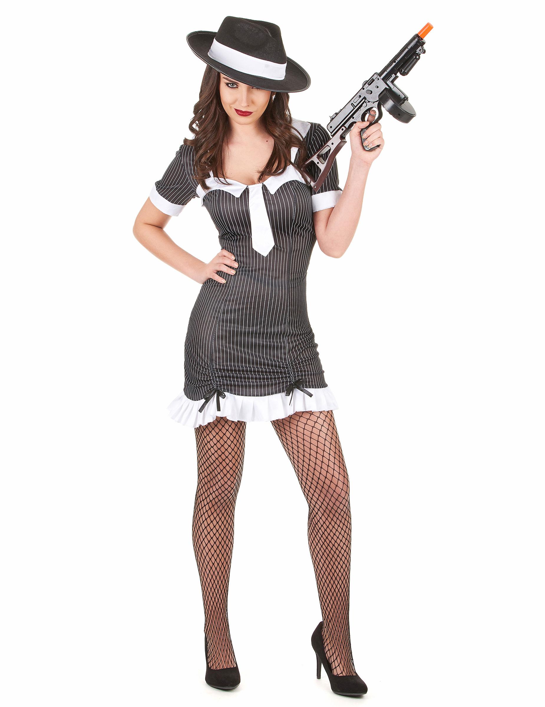 Gangster-Kostüm für Damen - S 74394