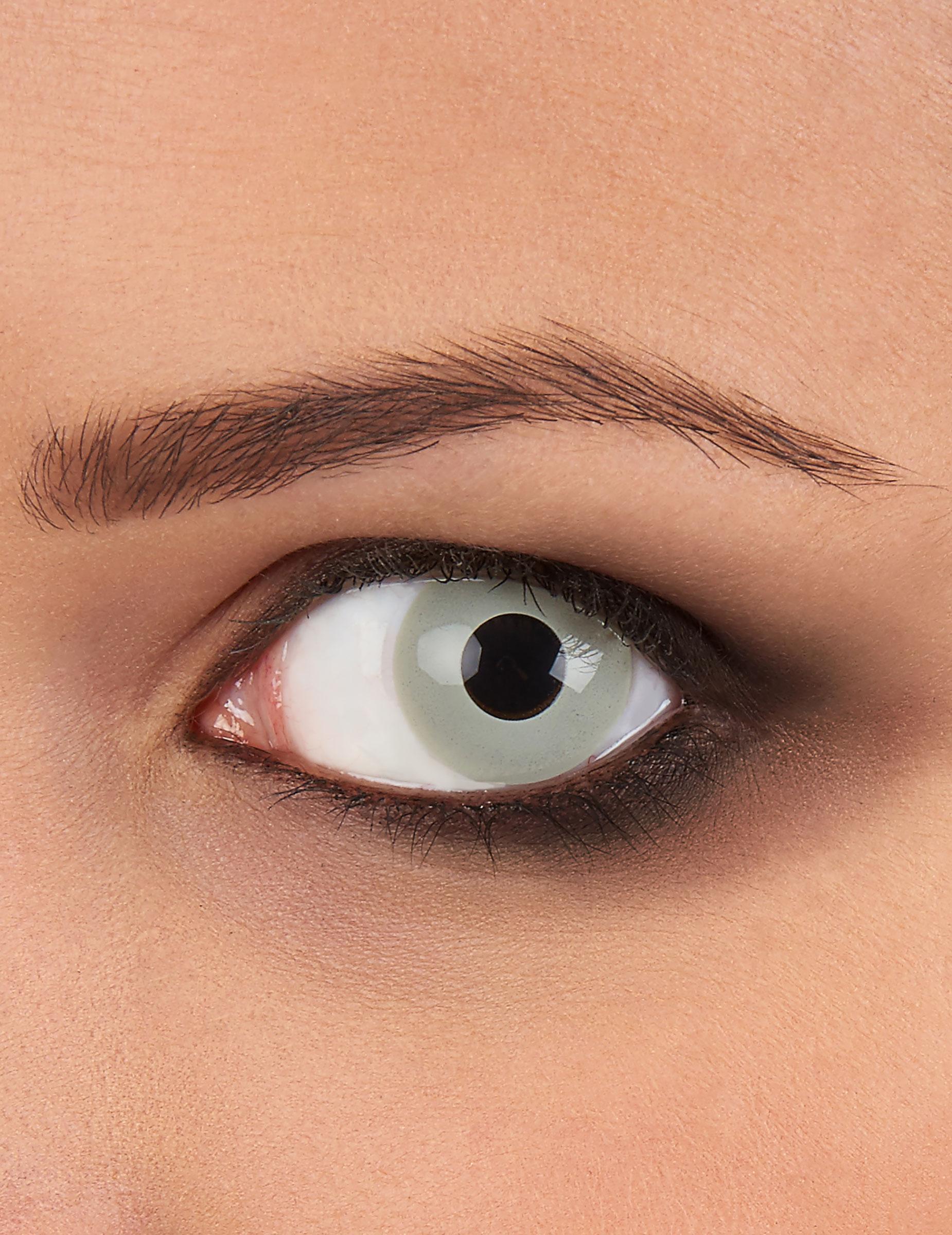 graue kontaktlinsen zombie halloween schminke und. Black Bedroom Furniture Sets. Home Design Ideas